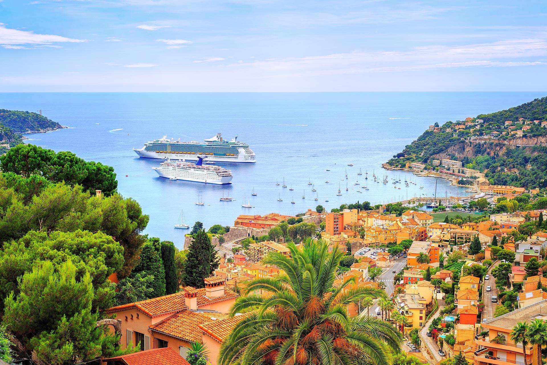 Cruising Ships in Villefranche Near Nice, France