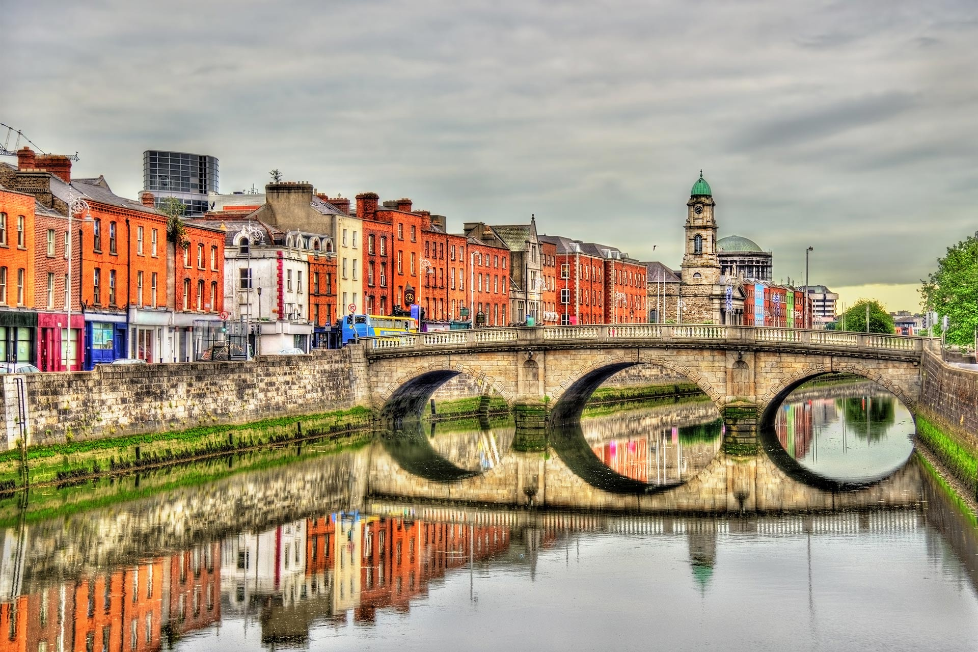 Mellows Bridge in Dublin, Ireland