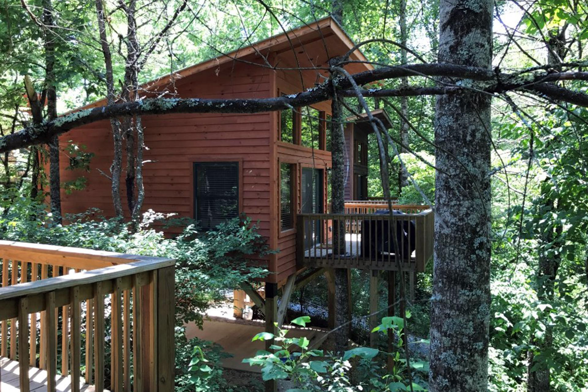 River's Edge Treehouse Resort in North Carolina; Courtesy of River's Edge Treehouse Resort