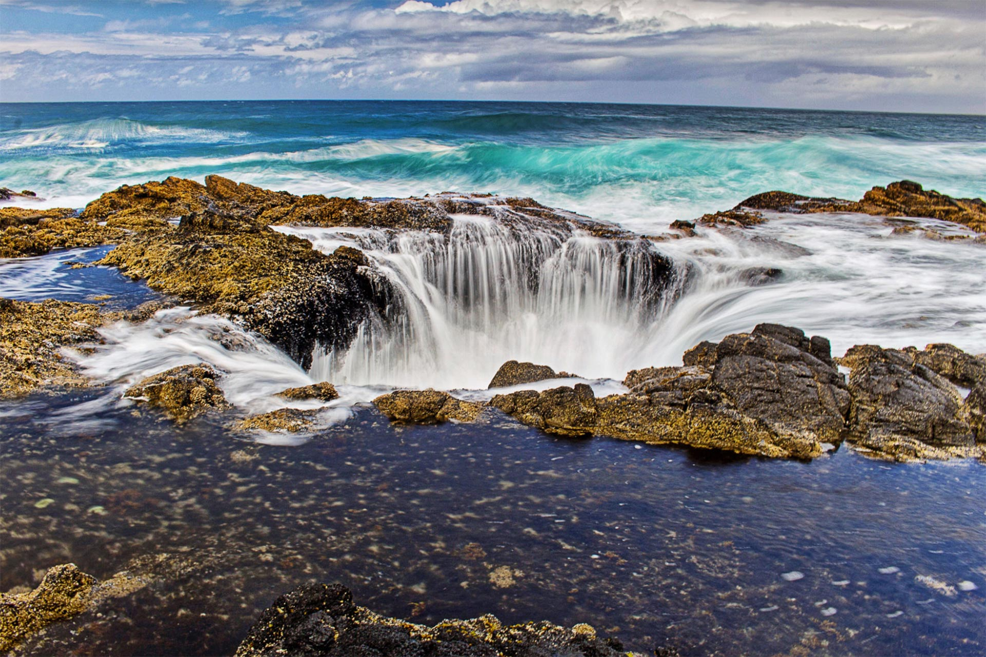 Thor's Well in Cape Perpetua Scenic Area