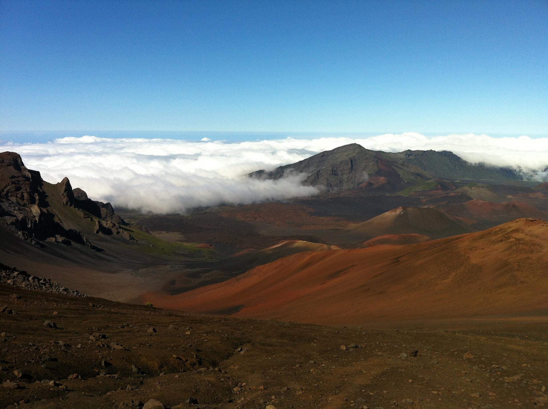 Haleakal Volcano in Hawaii.