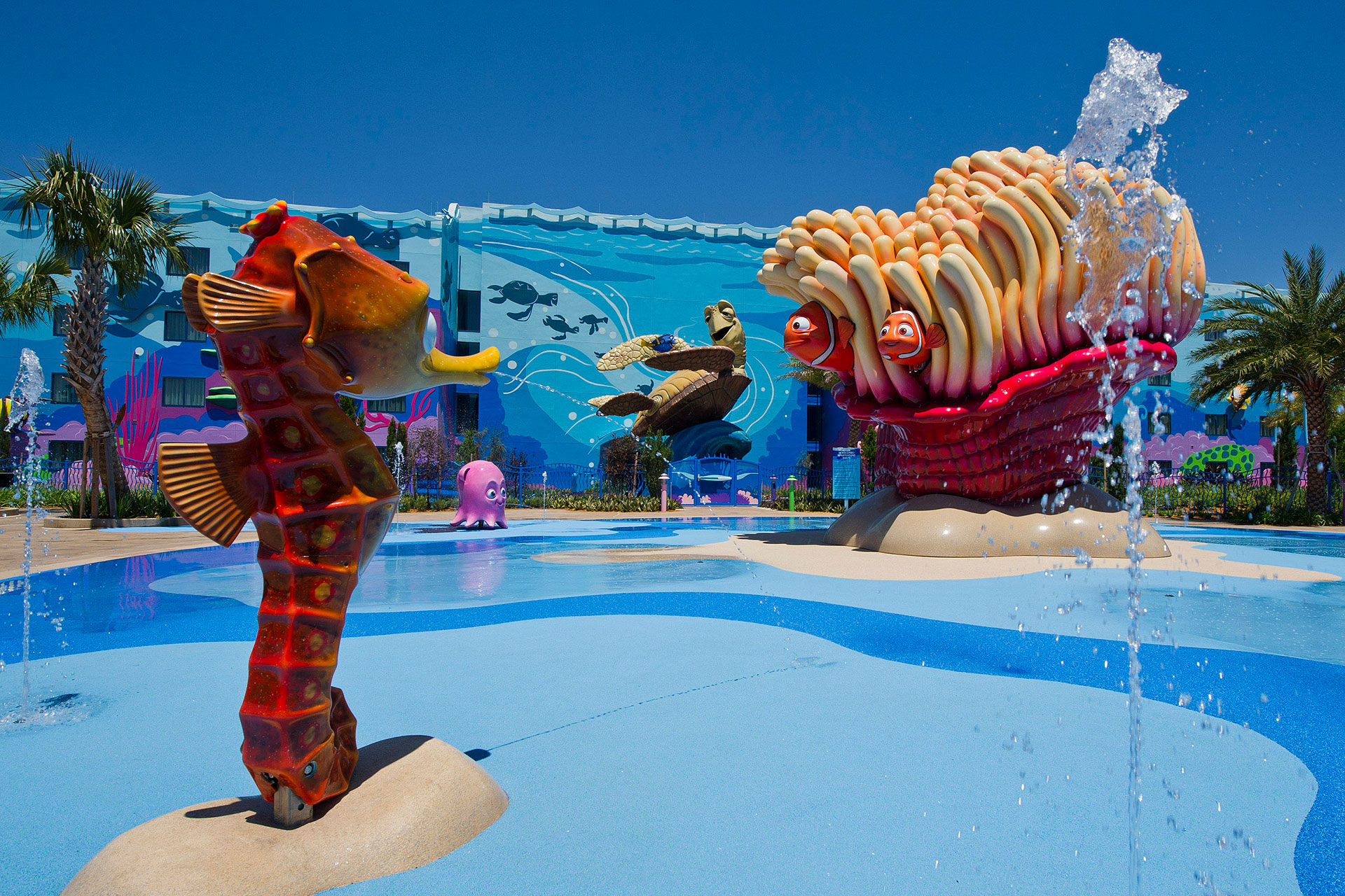 Big Blue Pool at Disney's Art of Animation Resort in Florida