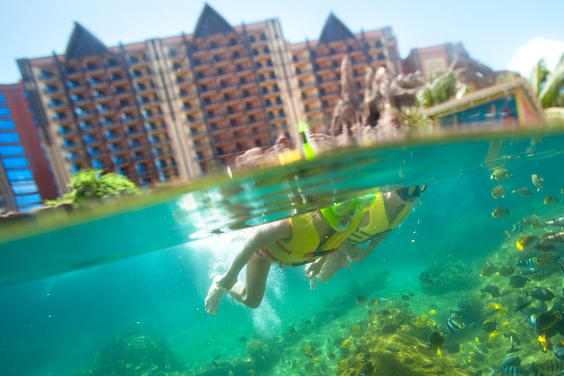 Snorkeling at Aulani, A Disney Resort & Spa; Courtesy of Aulani, A Disney Resort & Spa