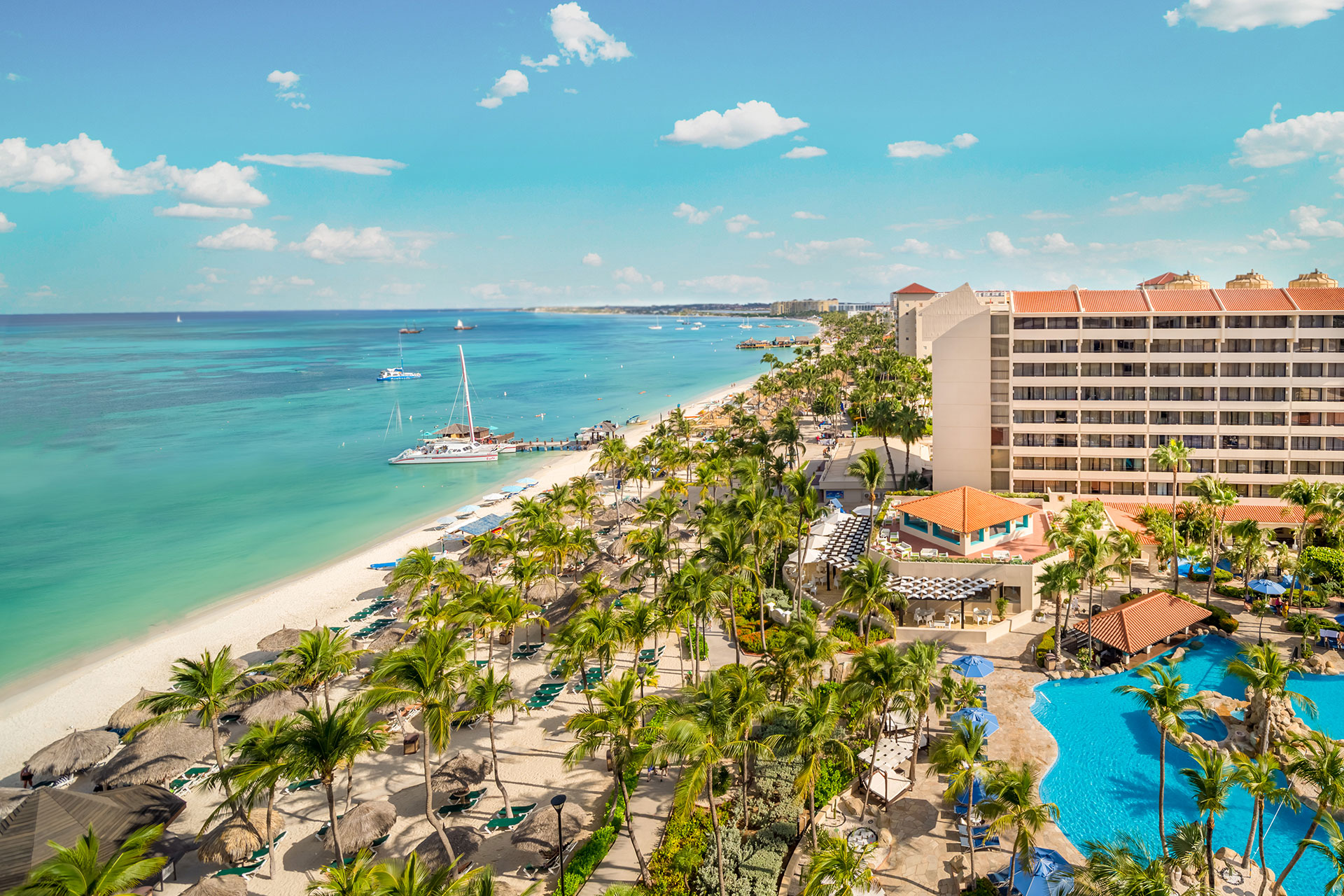 Aerial View of Barcelo Aruba; Courtesy of Barcelo Aruba