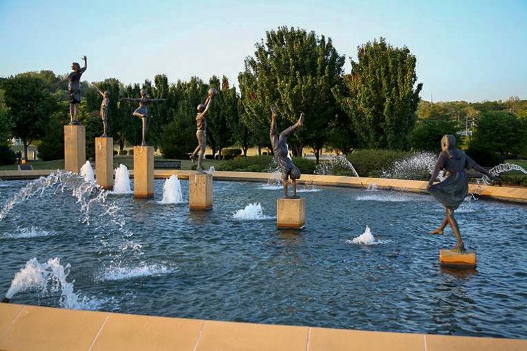 Kansas City, Missouri children's fountain; Courtesy of Visit Kansas City