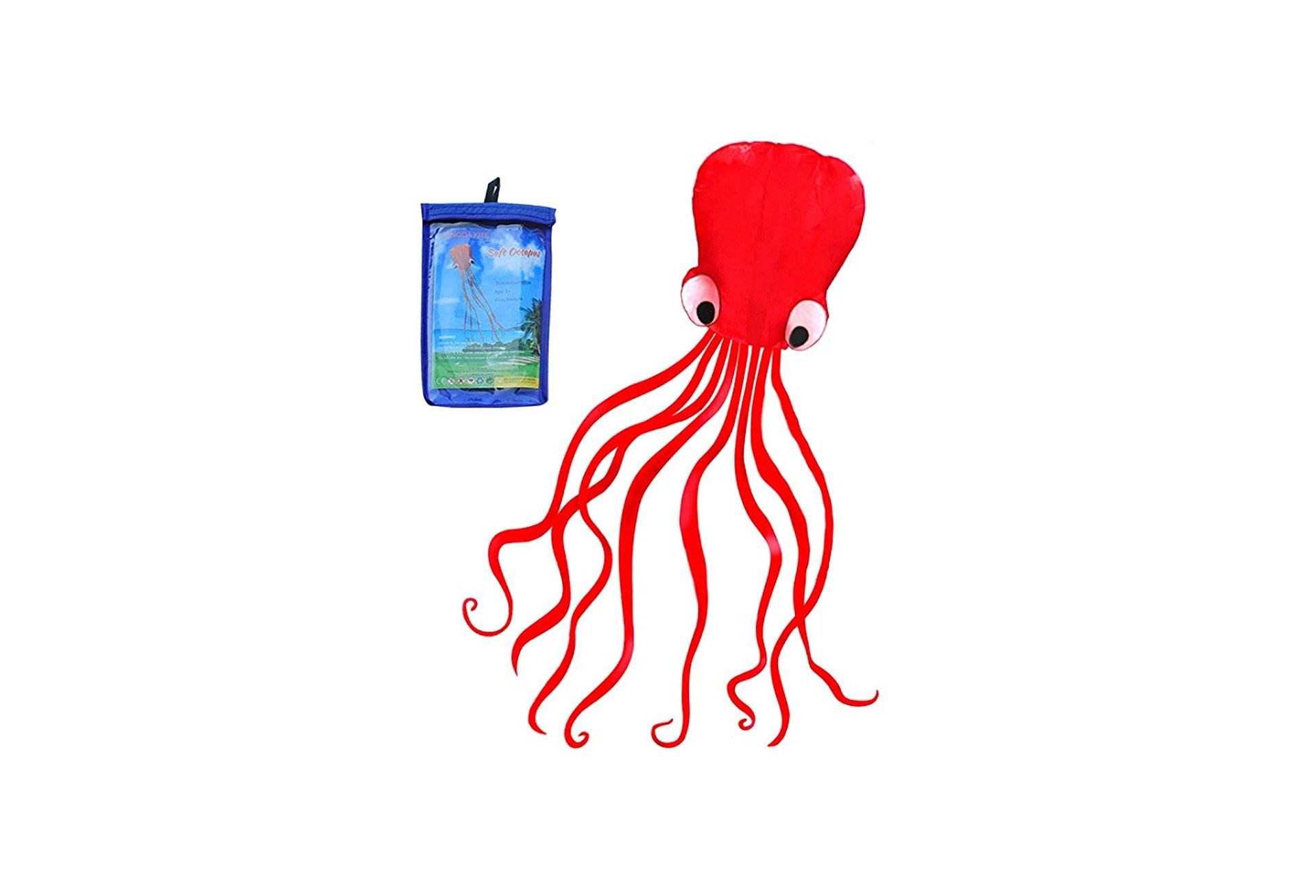 HENGDA Octopus Kite in Red