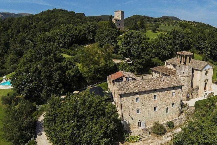 Pieve San Quirico Castle in Italy; Courtesy of Pieve San Quirico Castle