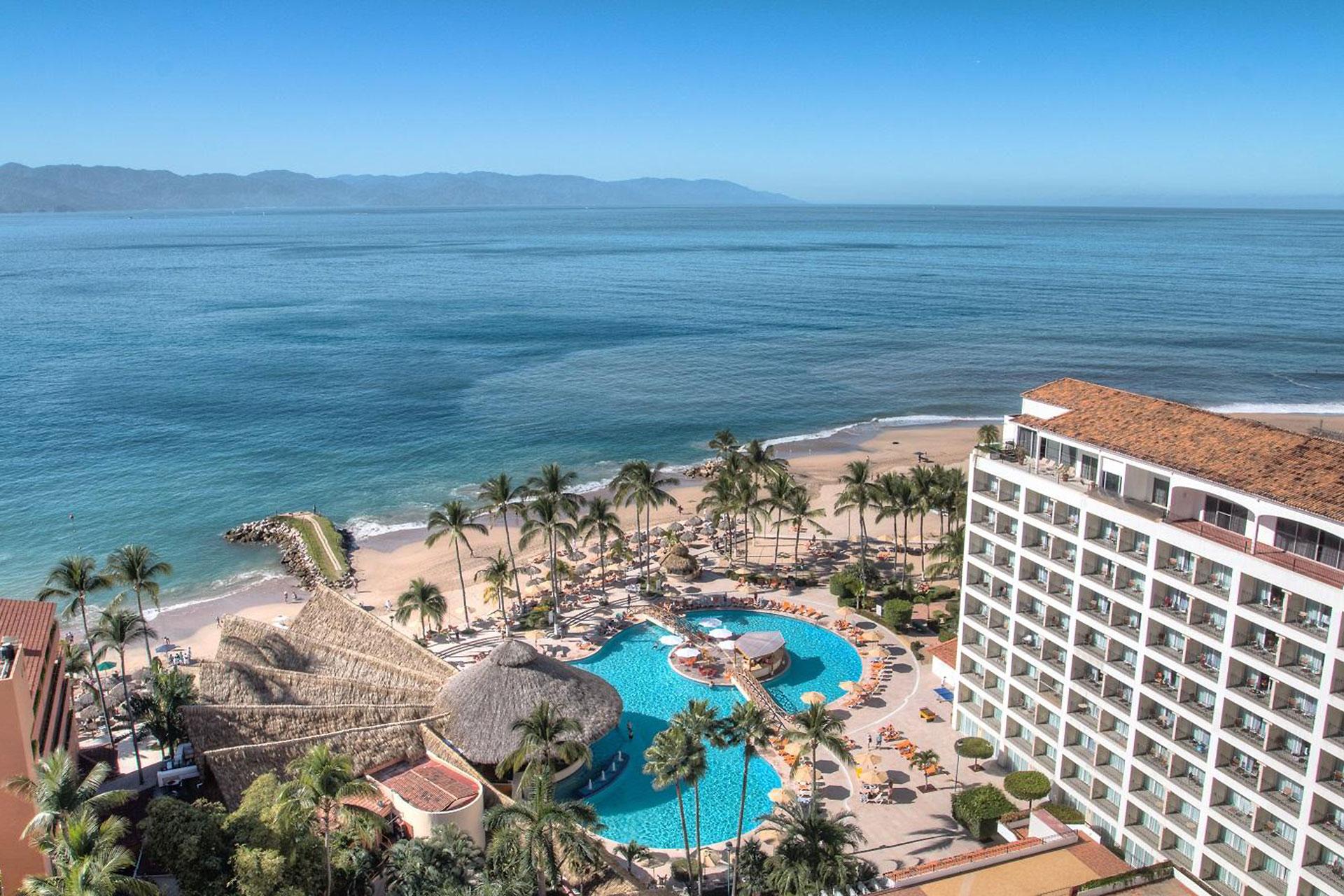 Aerial View of Sunscape Puerto Vallarta Resort and Spa in Puerto Vallarta, Mexico