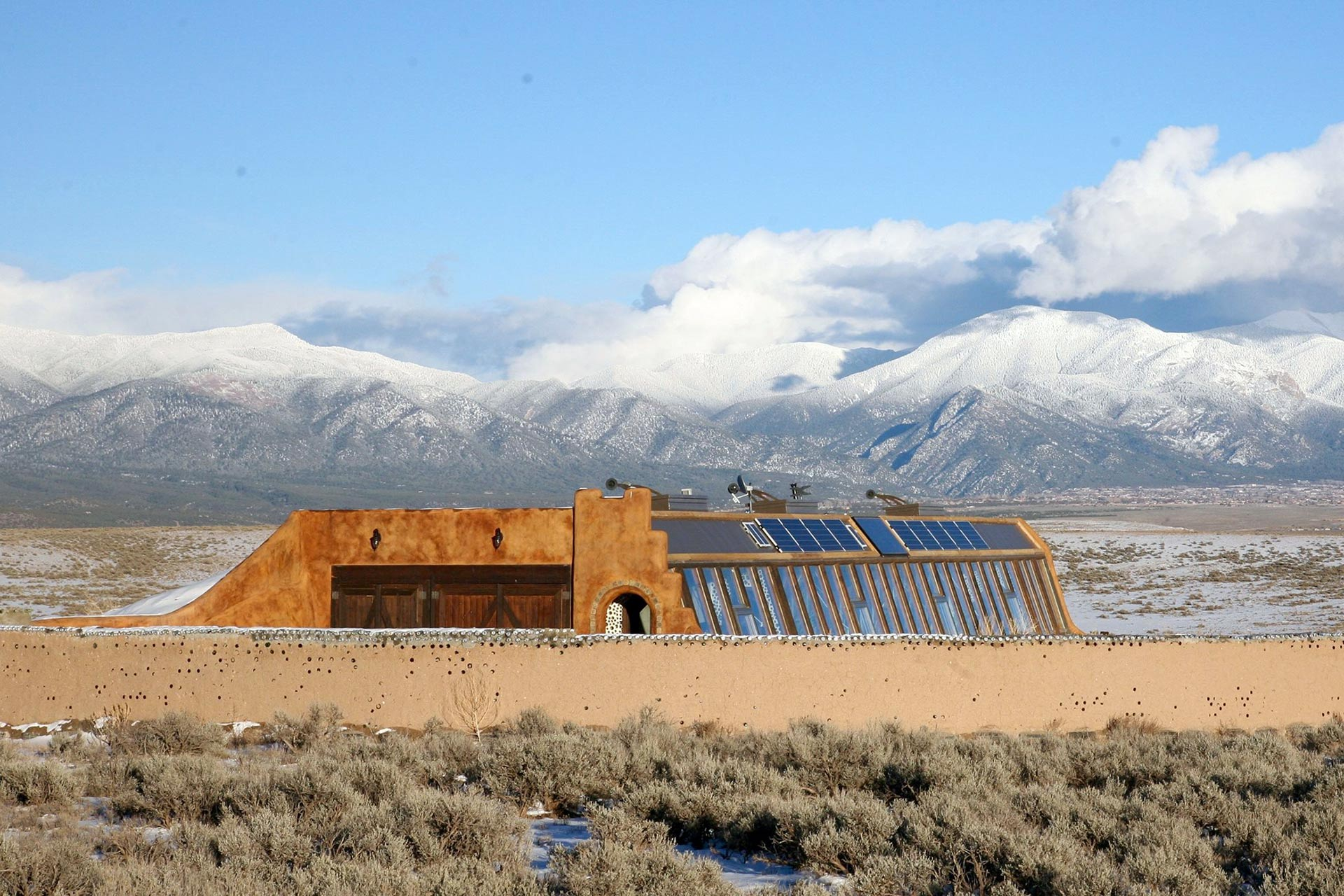 Earthship Biotecture in Taos, New Mexico; Courtesy of Earthship Biotecture