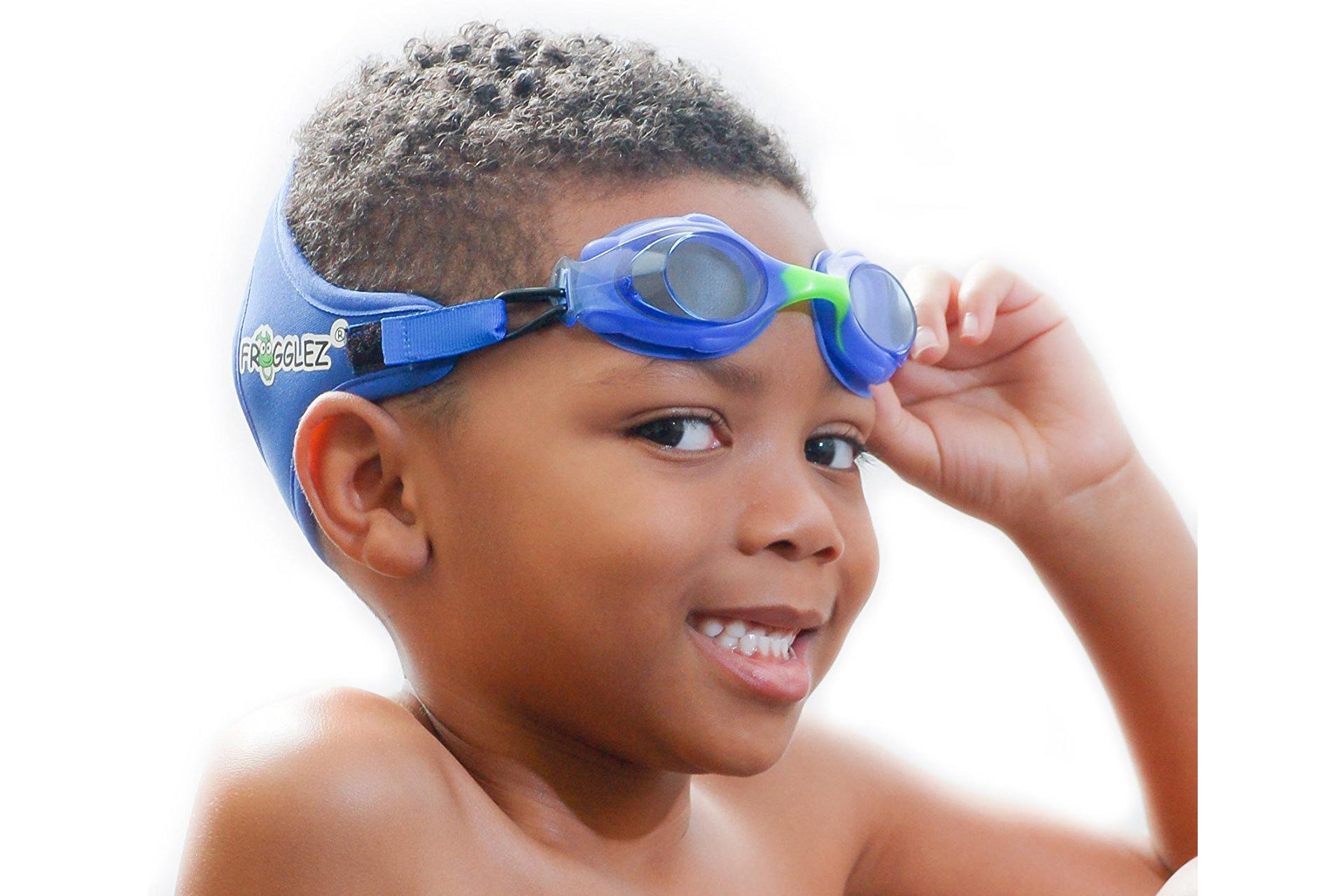 Frogglez Explorerz Jr. Kids Swimming Goggles available on Amazon