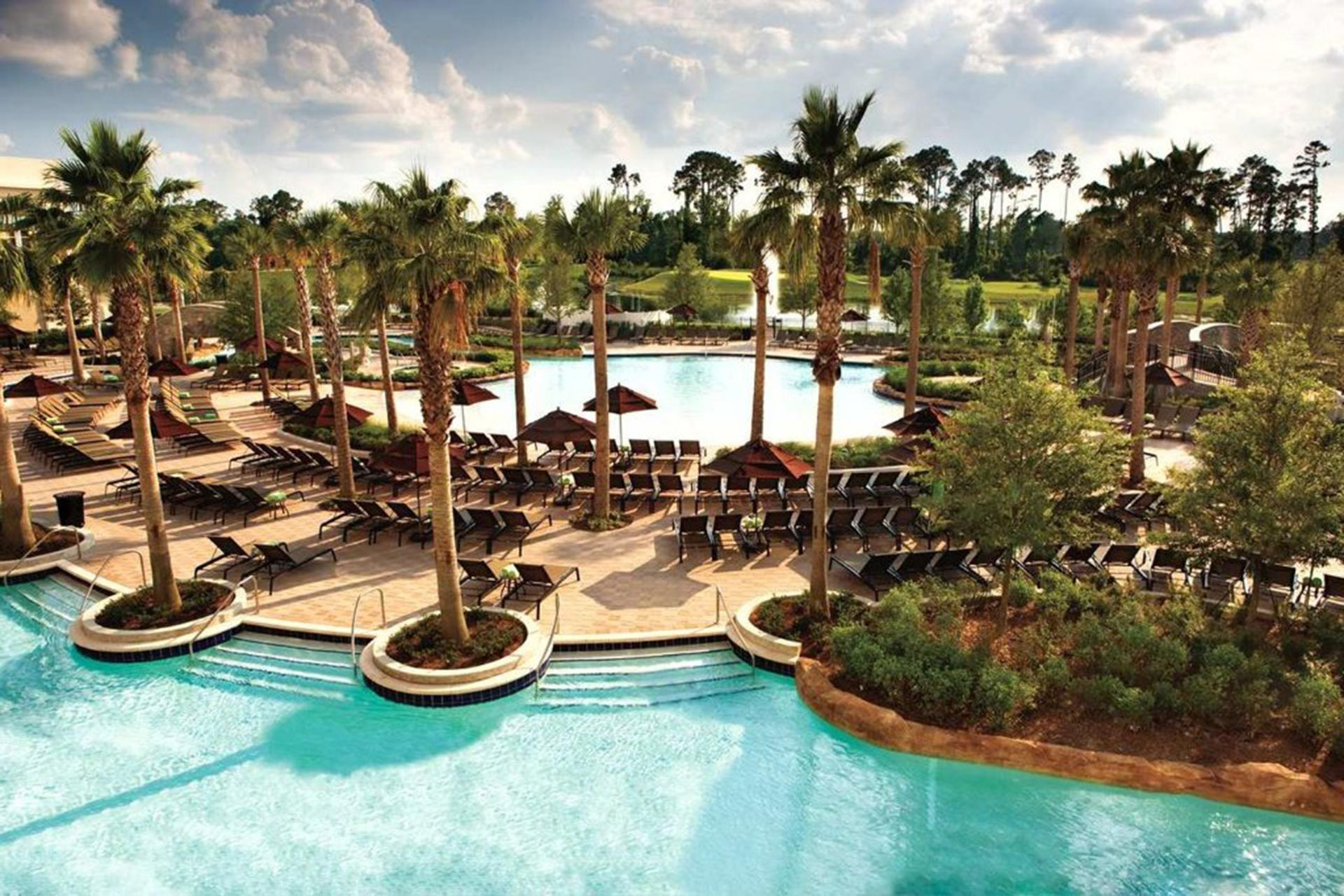 Pools at Hilton Orlando Bonnet Creek in Florida; Courtesy of Hilton Orlando Bonnet Creek