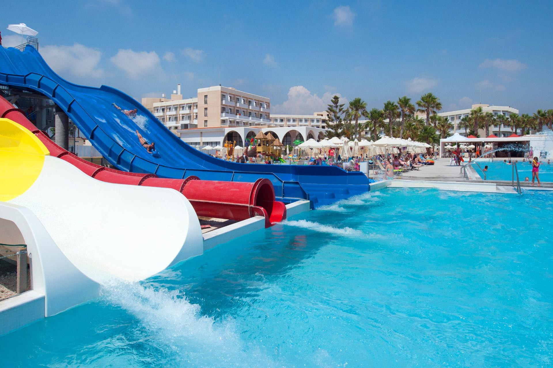Water Park at Louis Phaethon Beach in Greece; Courtesy of Louis Phaethon Beach
