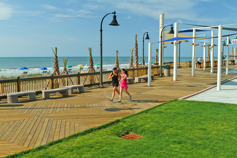 Myrtle Beach, South Carolina boardwalk; Courtesy of Myrtle Beach CVB