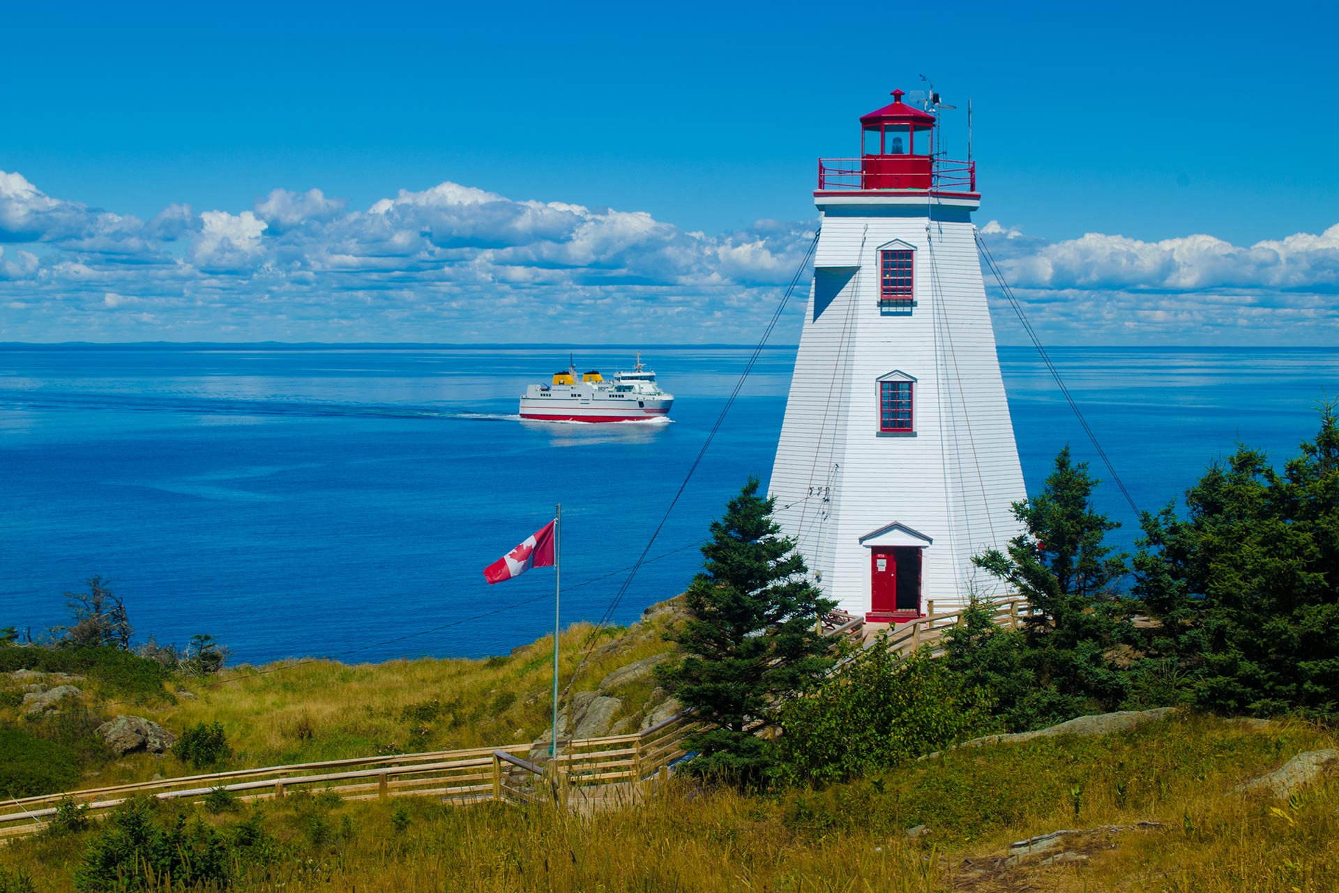 Swallowtail Lighthouse on Grand Manan Island, NB, Canada; Courtesy of VH Creations/Shutterstock