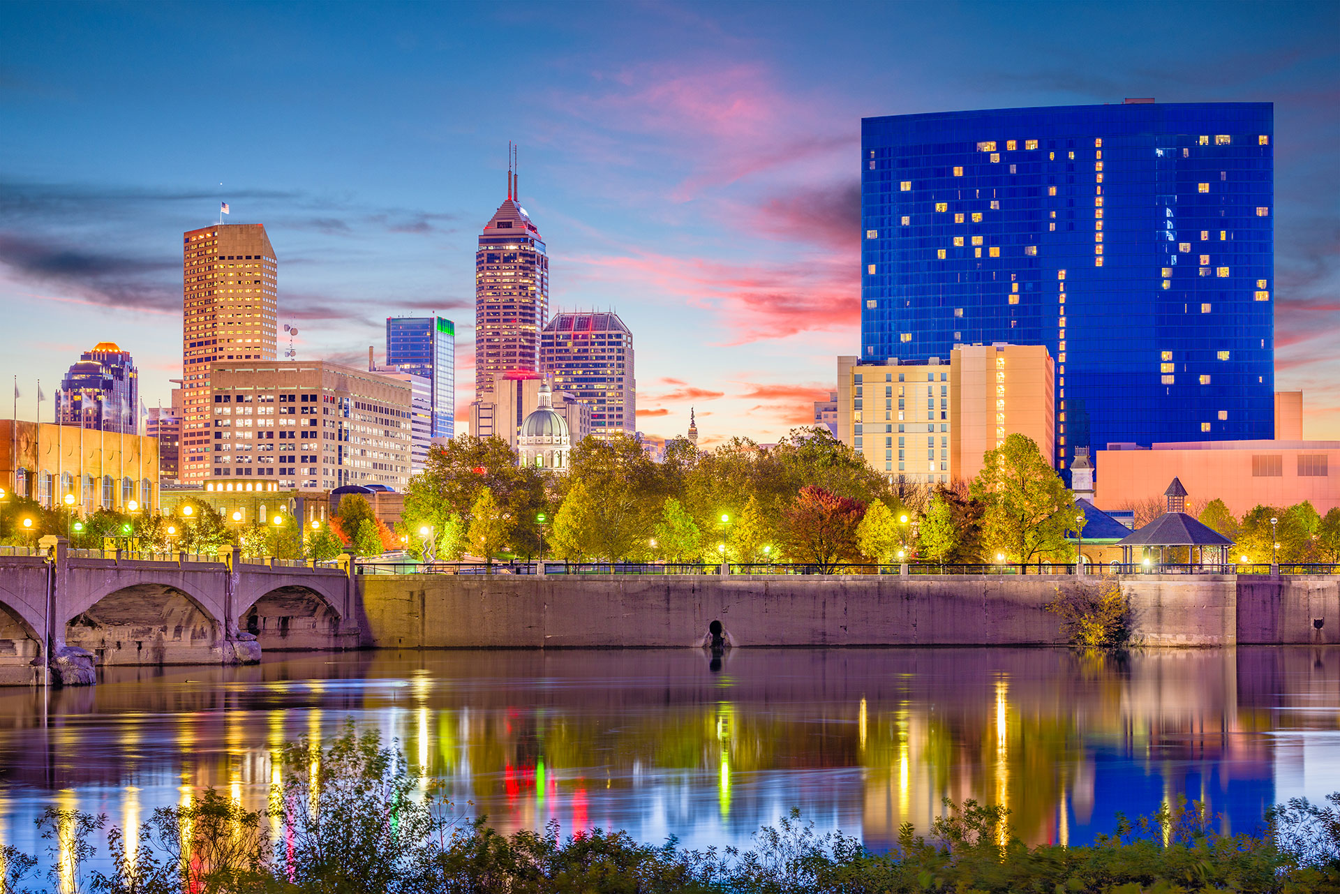 Indianapolis Skyline; Courtesy of Sean Pavone/Shutterstock.com