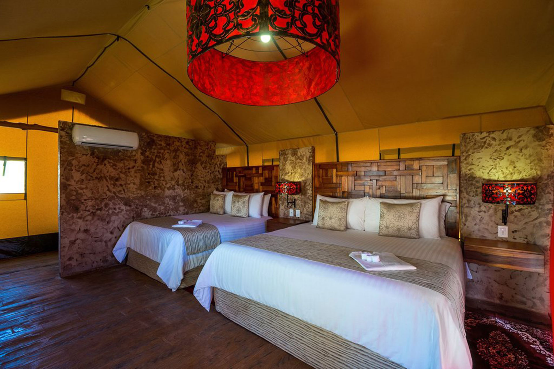 Room at Serenity Eco Luxury Tented Camp in Riviera Maya Mexico