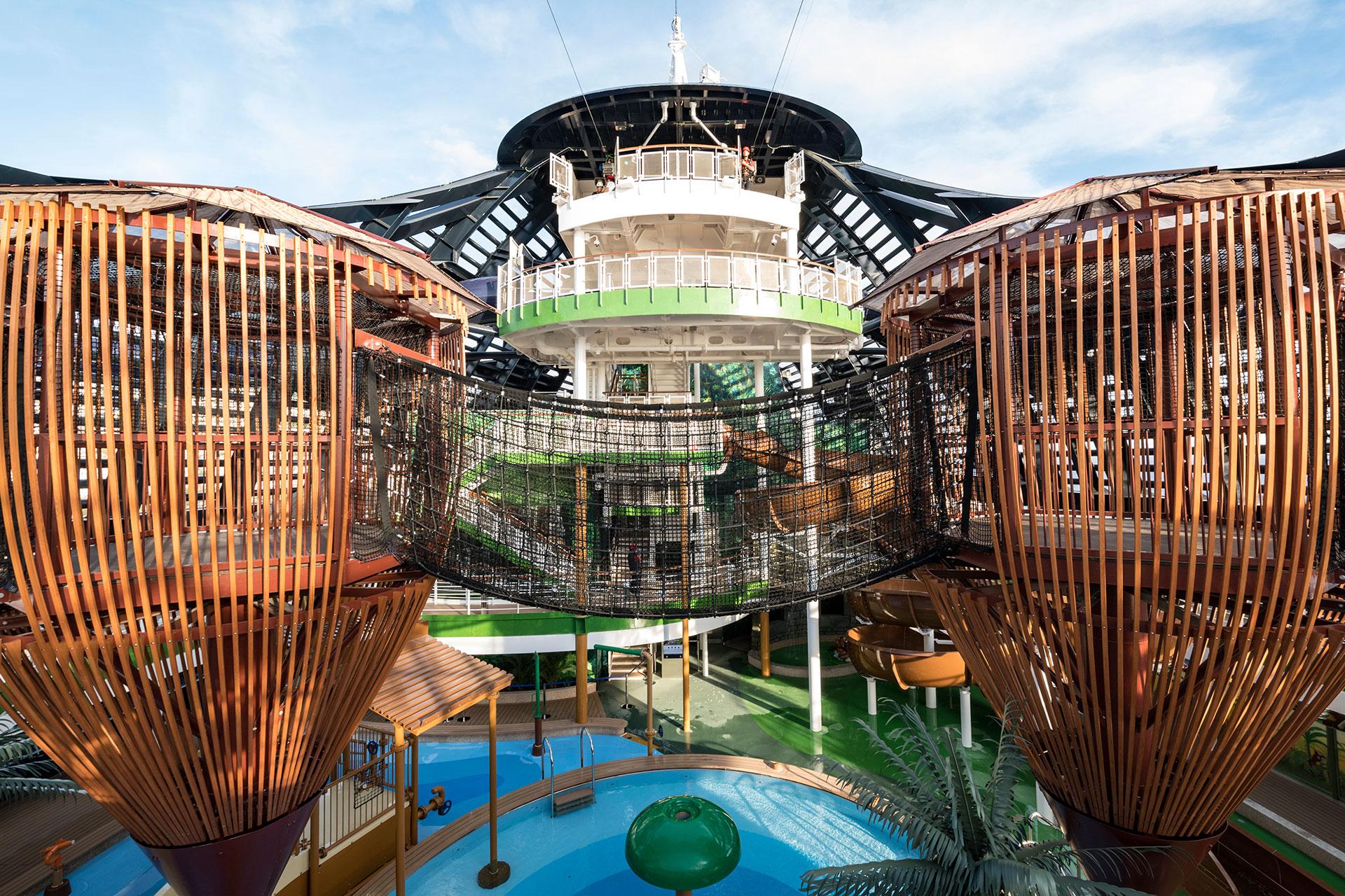 Forest Aquaventure Park on MSC Cruises