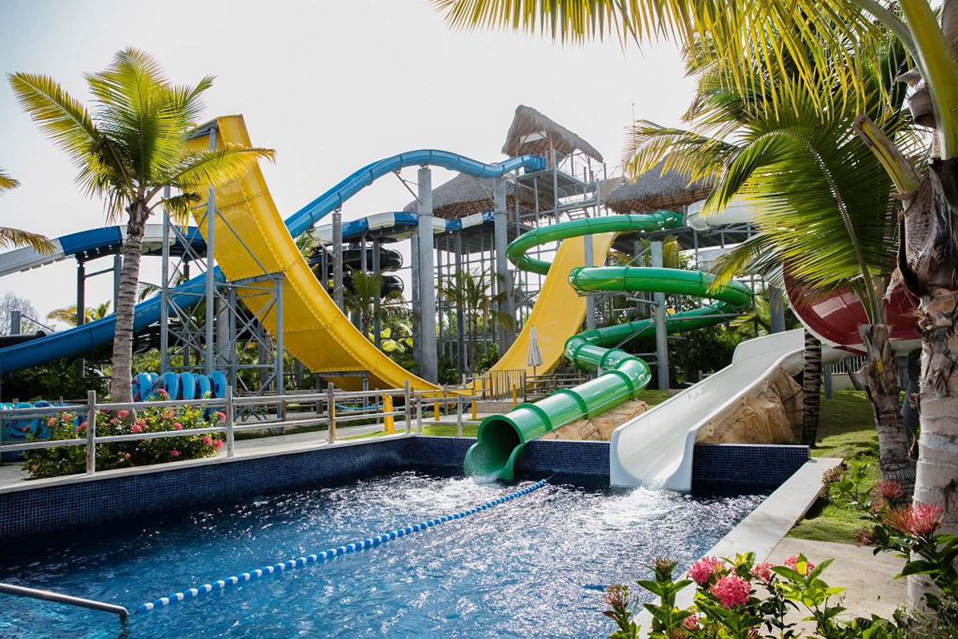 Water slides at Barcelo Bavaro Palace