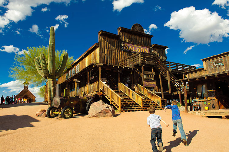Mammoth Saloon at Goldfield Ghost Town in Mesa, Arizona