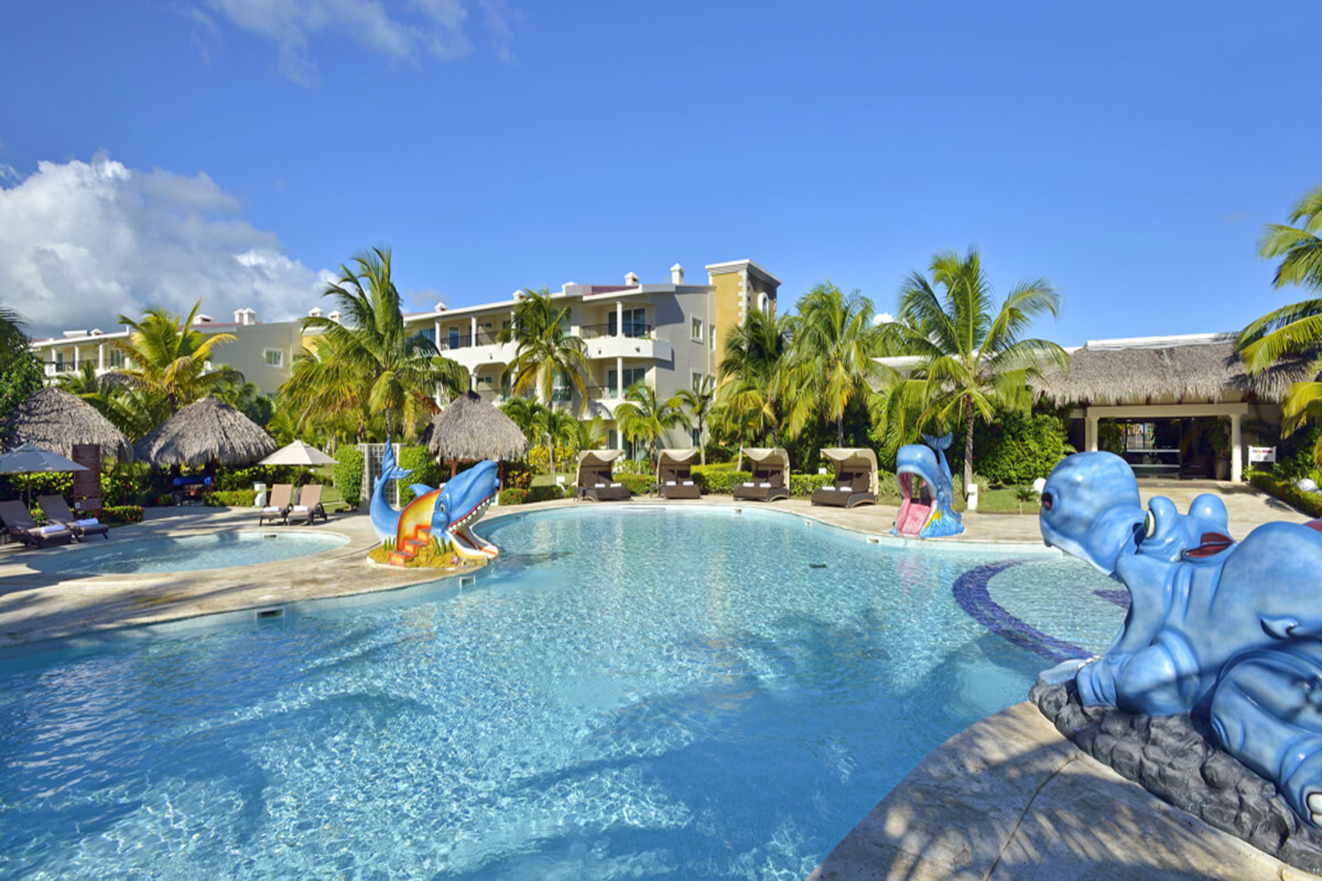 Pool and children's slides at Paradisus Punta Cana Resort