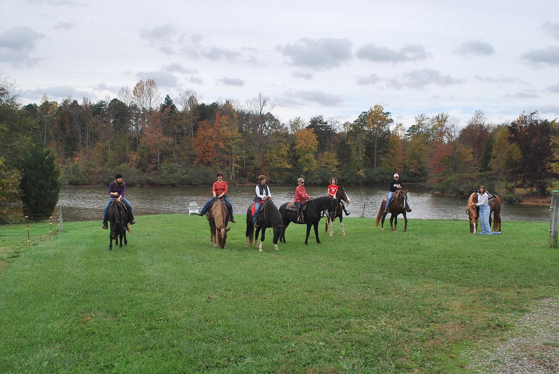 Horseback riding at Shangrila Guest Ranch