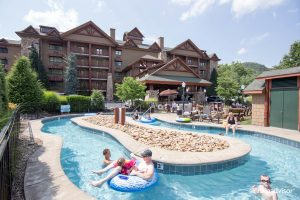 The Lazy River at the Bearskin Lodge on the River Hotel in Tennessee