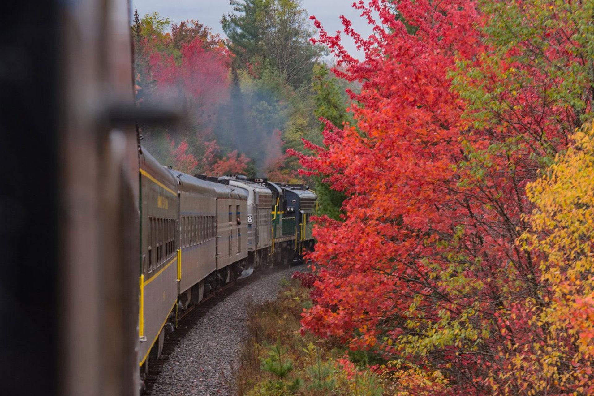Adirondack Scenic Railroad in New York