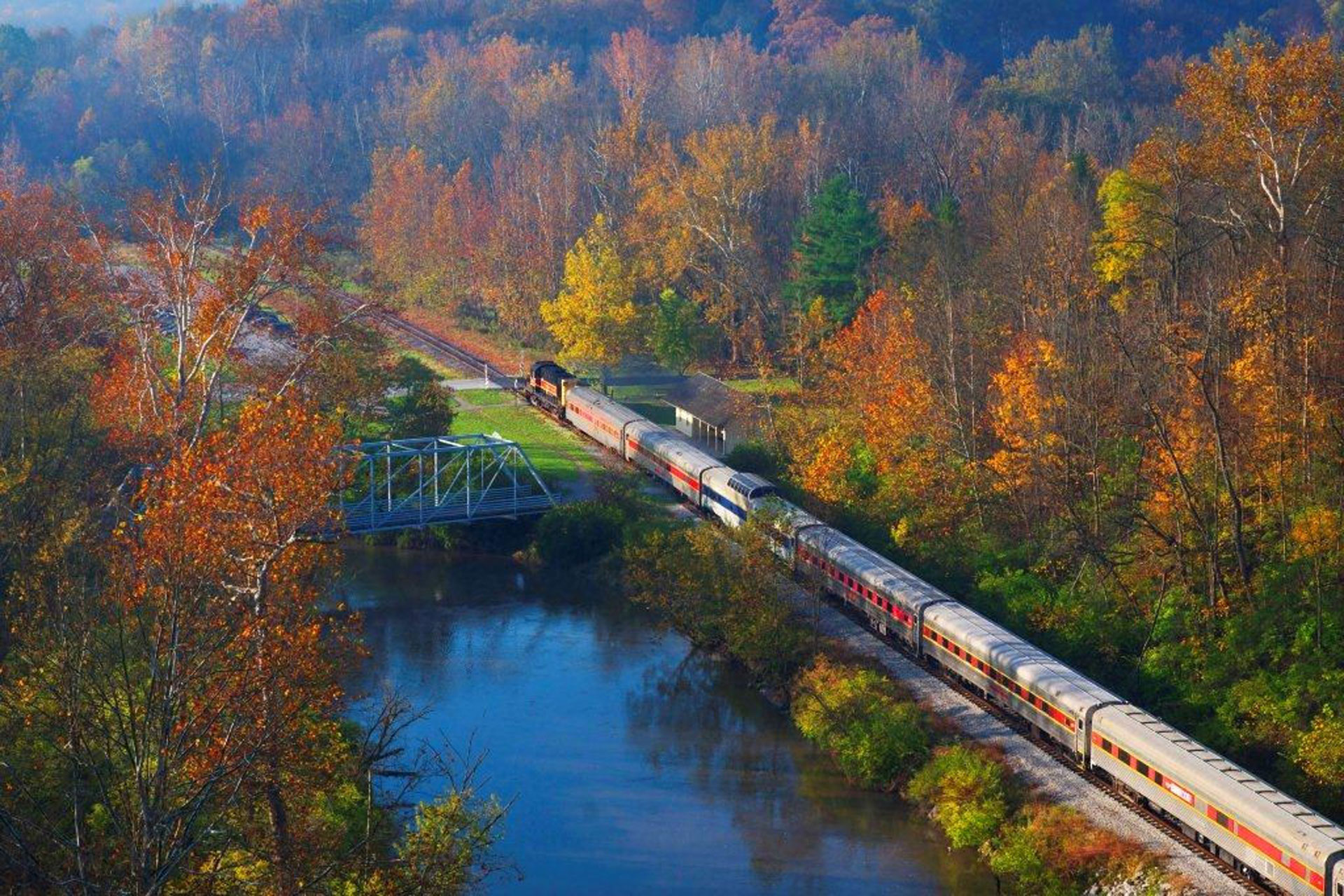 Cuyahoga-Valley-Scenic-Railroad-Aerial-View; Courtesy of Cuyahoga Valley Scenic Railroad