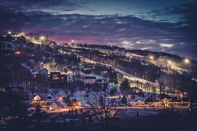 Nighttime at Beech Mountain in North Carolina