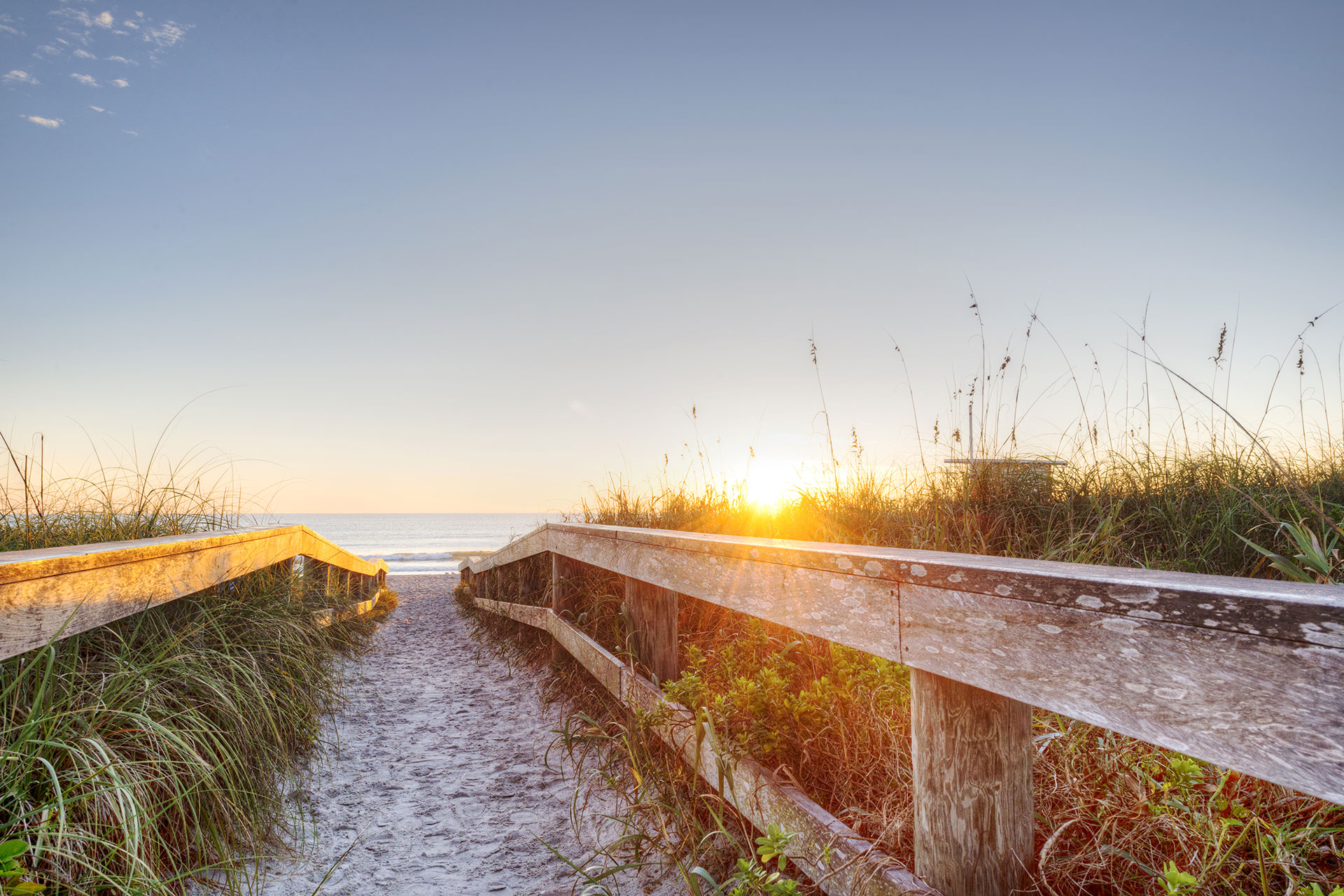 Cocoa Beach, Florida at Sunset; Courtesy of Jesse Kunerth/Shutterstock.com