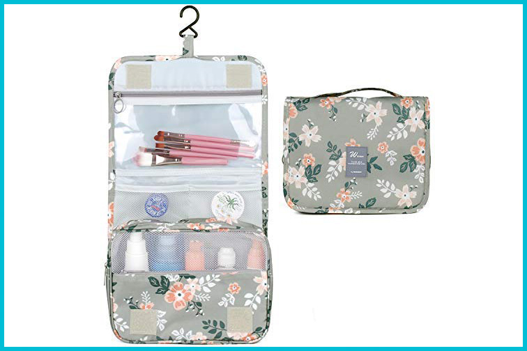 Hanging Travel Toiletry Bag and Make up Organizer; Courtesy of Amazon