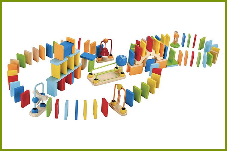 Hape Dynamo Wooden Domino Set; Courtesy of Amazon