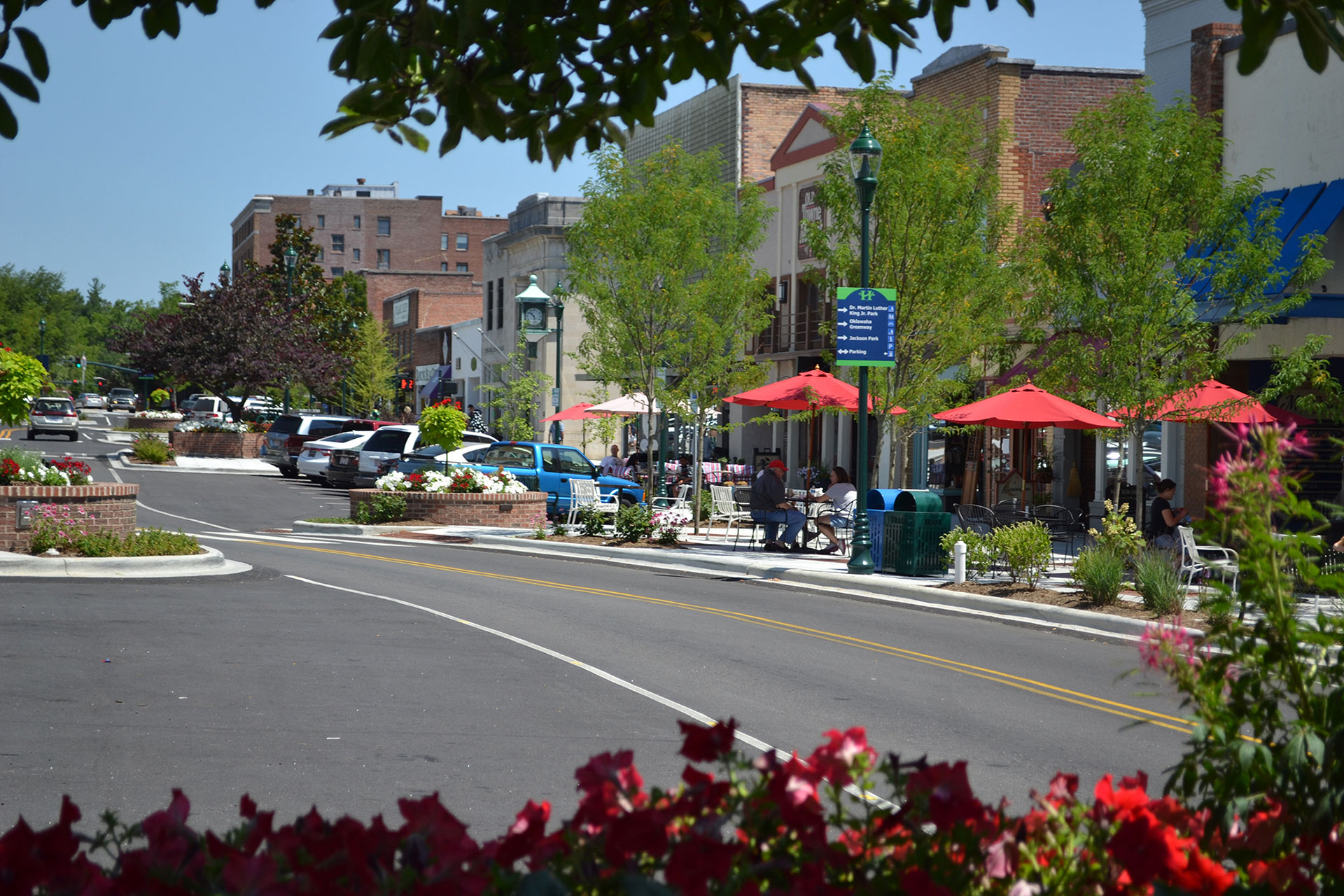 Downtown Hendersonville, North Carolina; Courtesy of Henderson County Tourism Development Authority.