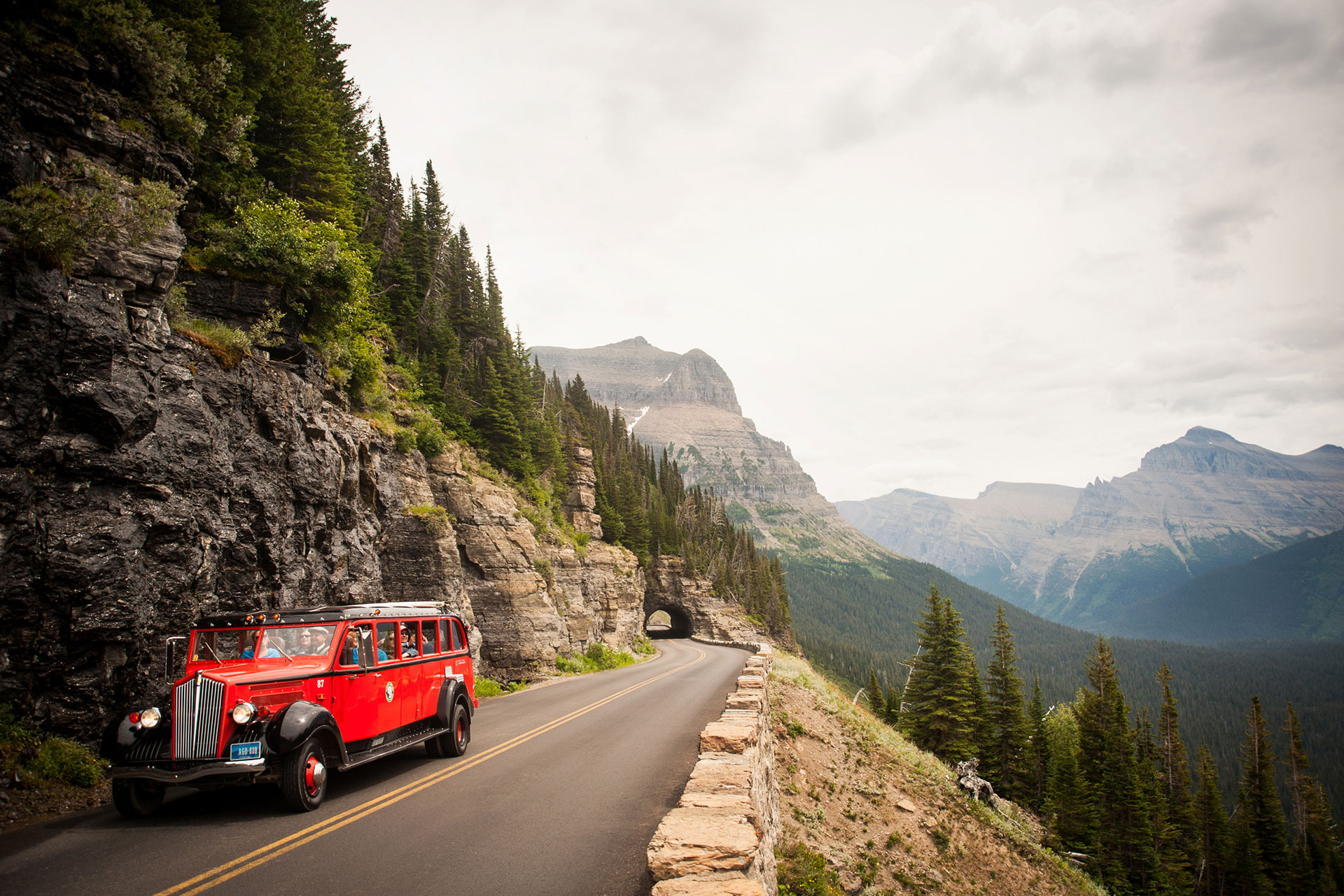 Red Jammers in Glacier National Park, MT