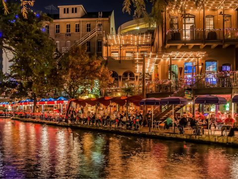 San Antonio River Walk at Night; Courtesy of Visit San Antonio