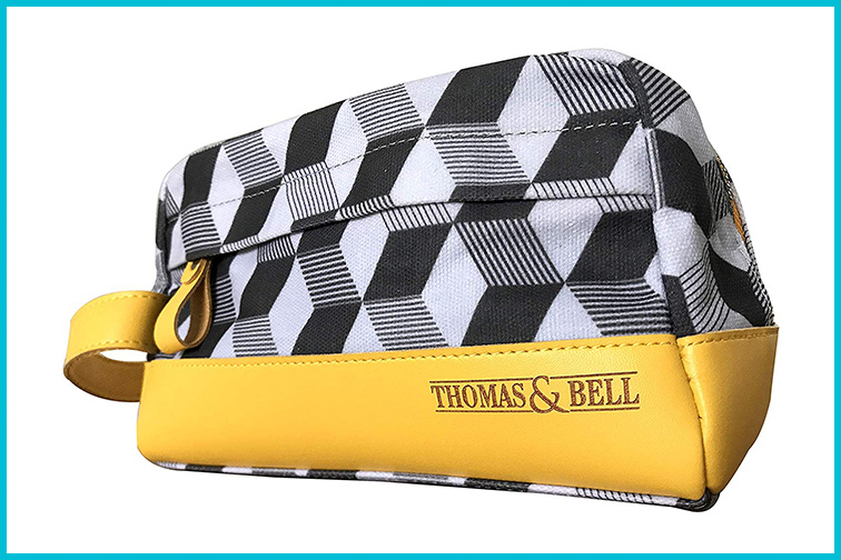 Thomas & Bell Designer Mens Stylish Toiletry Bag; Courtesy of Amazon