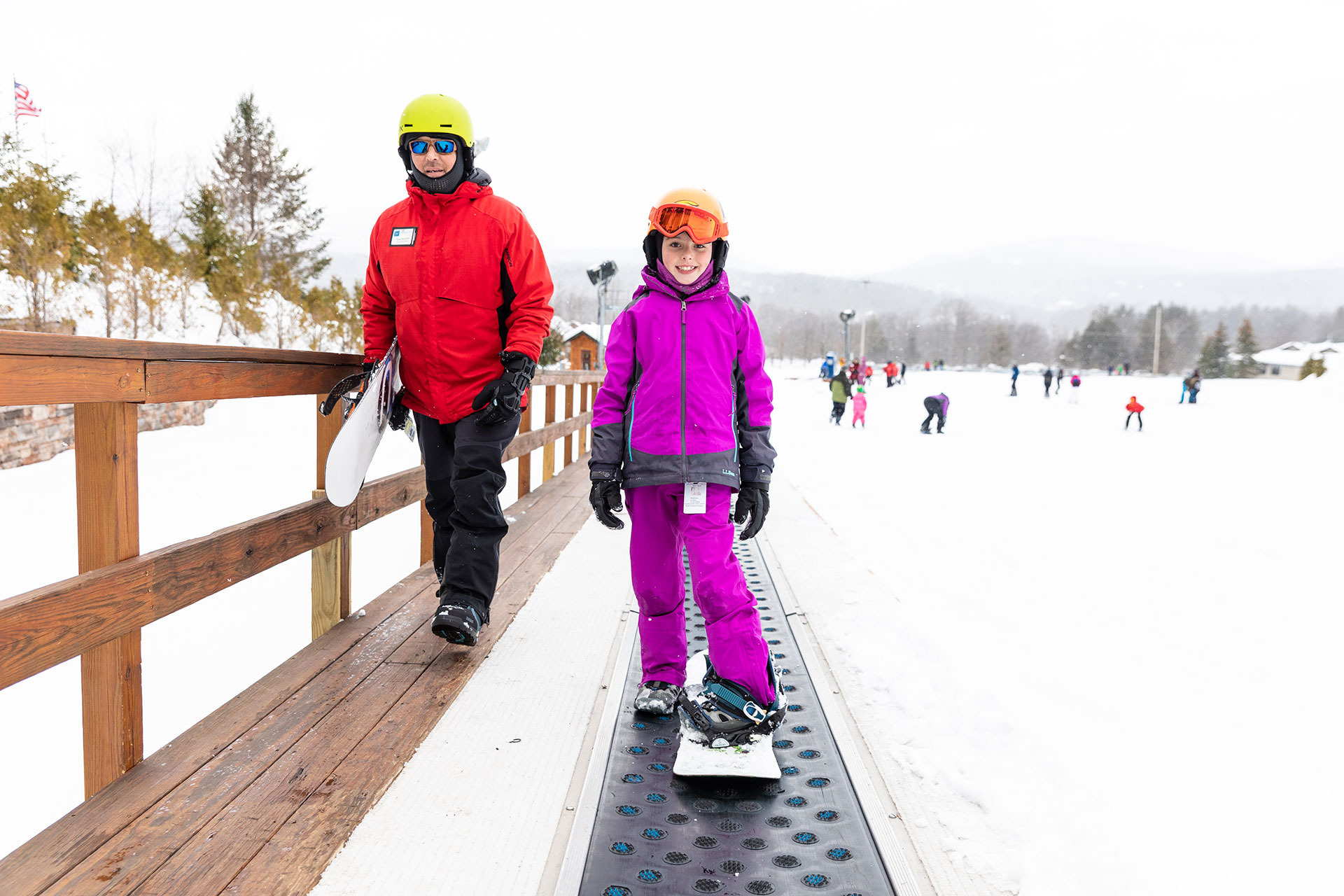 Young Girl Snowboarding at Windham Mountain; Courtesy of Windham Mountain