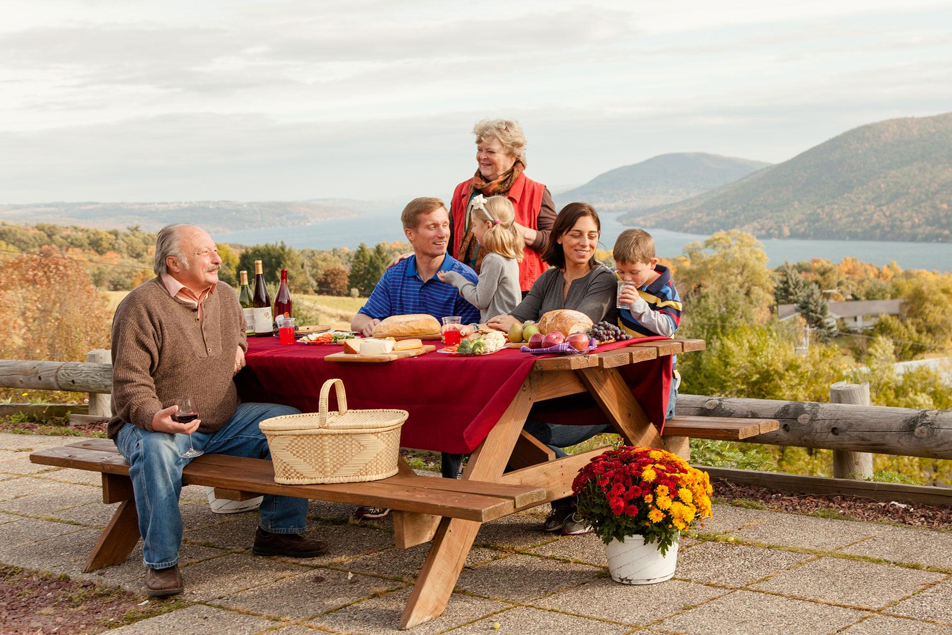 Family Picnic in the Finger Lakes