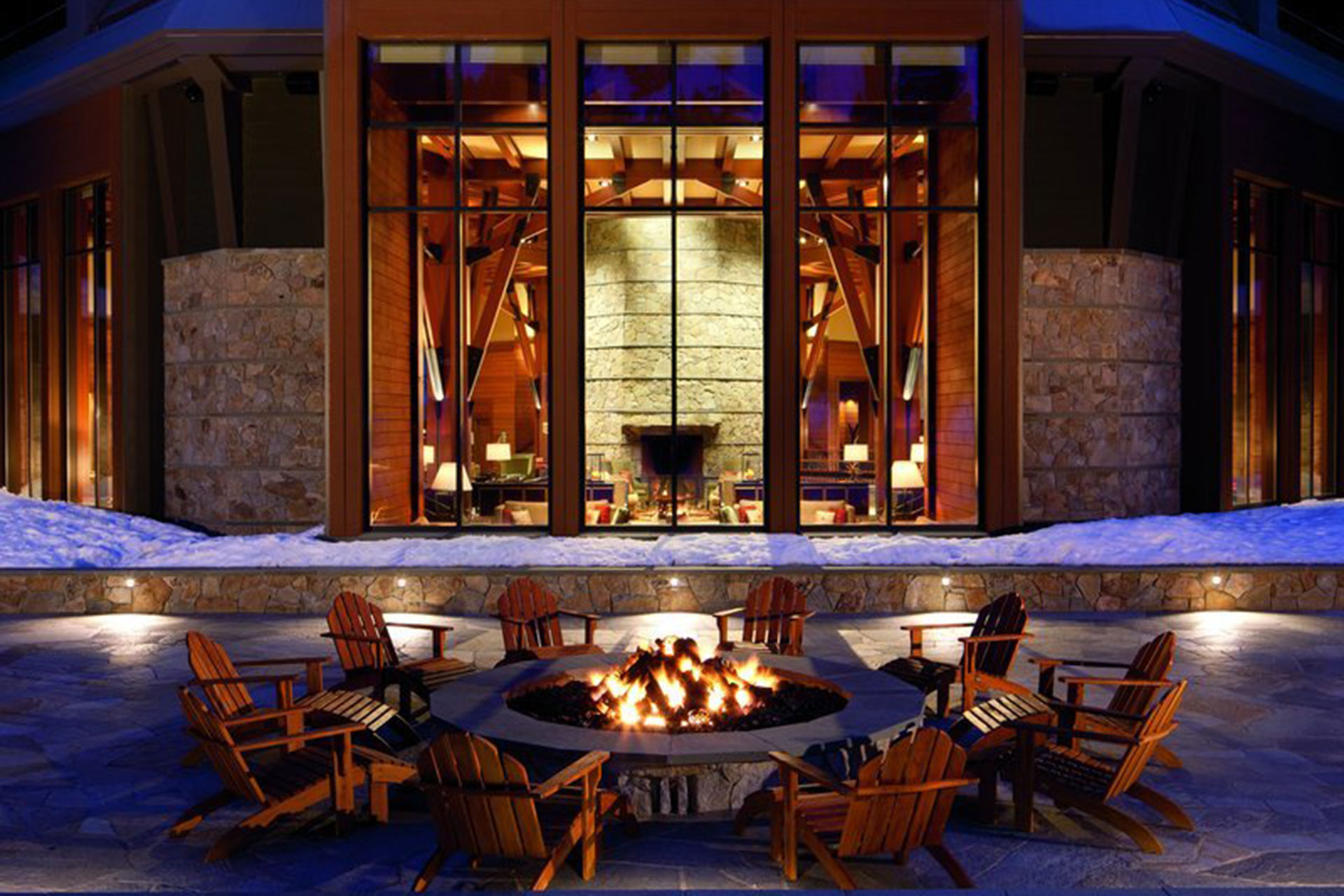 Fire Pit at The Ritz-Carlton, Lake Tahoe; Courtesy of The Ritz-Carlton Lake Tahoe