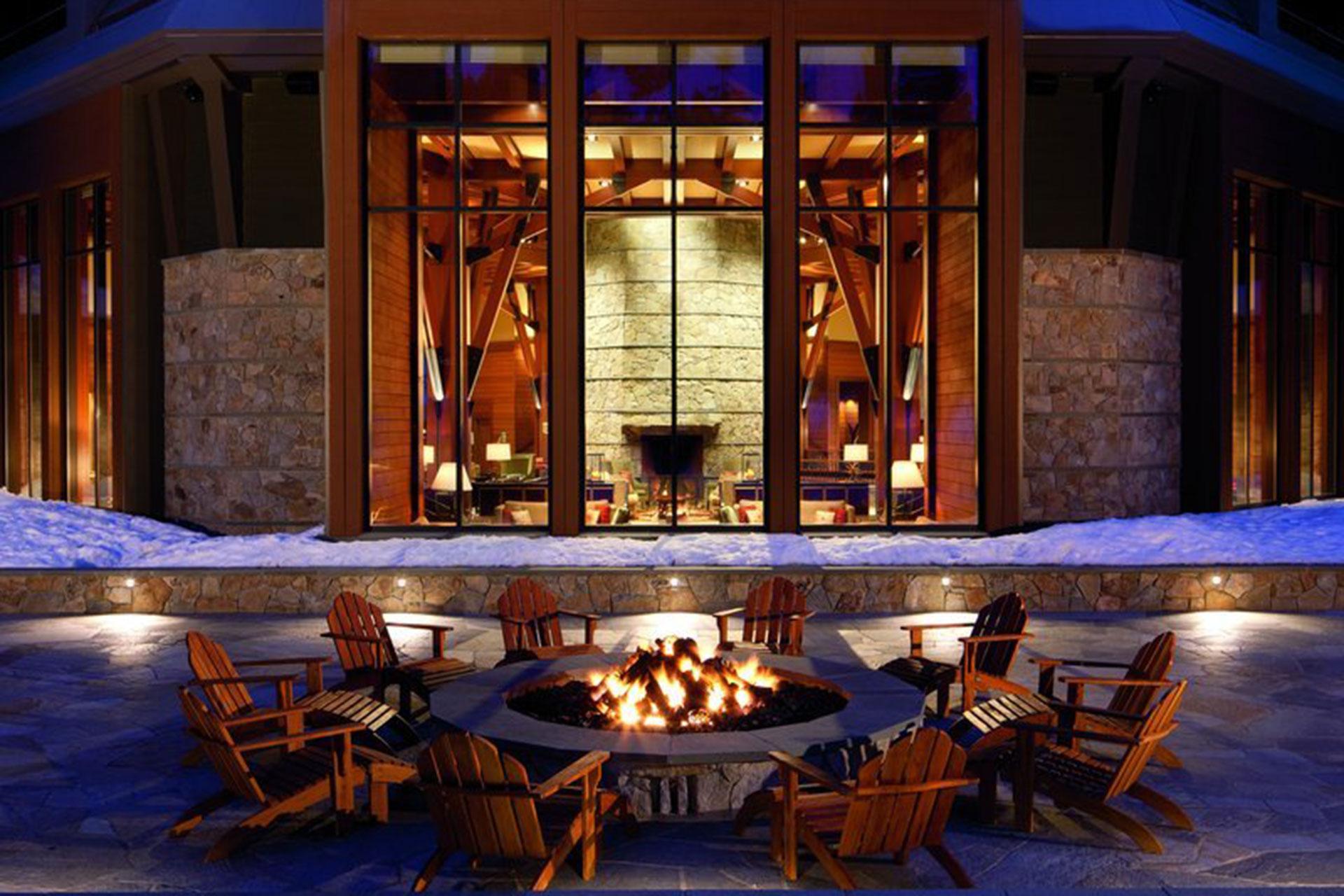 Fire Pit at The Ritz-Carlton, Lake Tahoe; Courtesy of The Ritz-Carlton Lake Tahoe