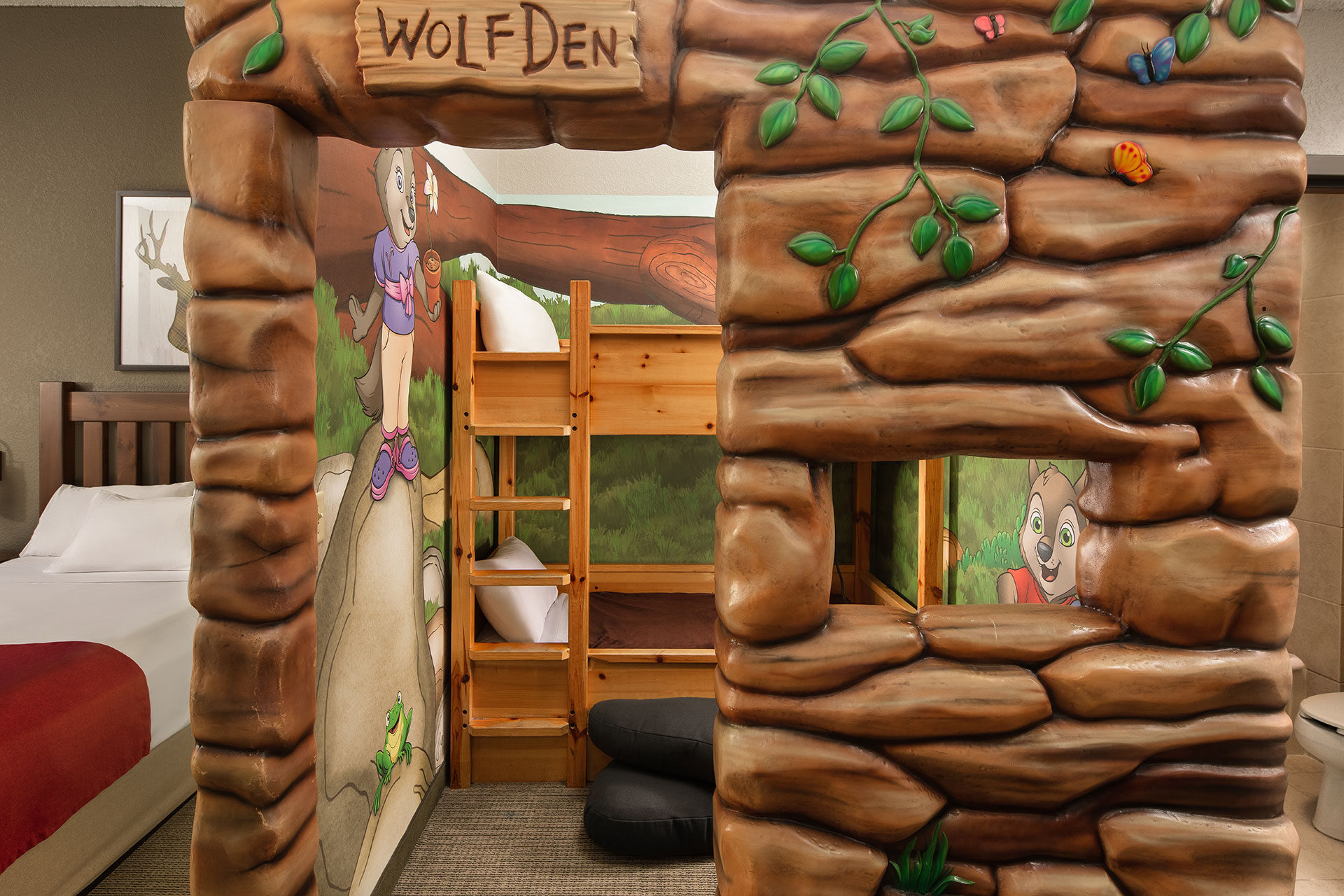 Wolf Den at Great Wolf Lodge; Courtesy of Great Wolf Lodge