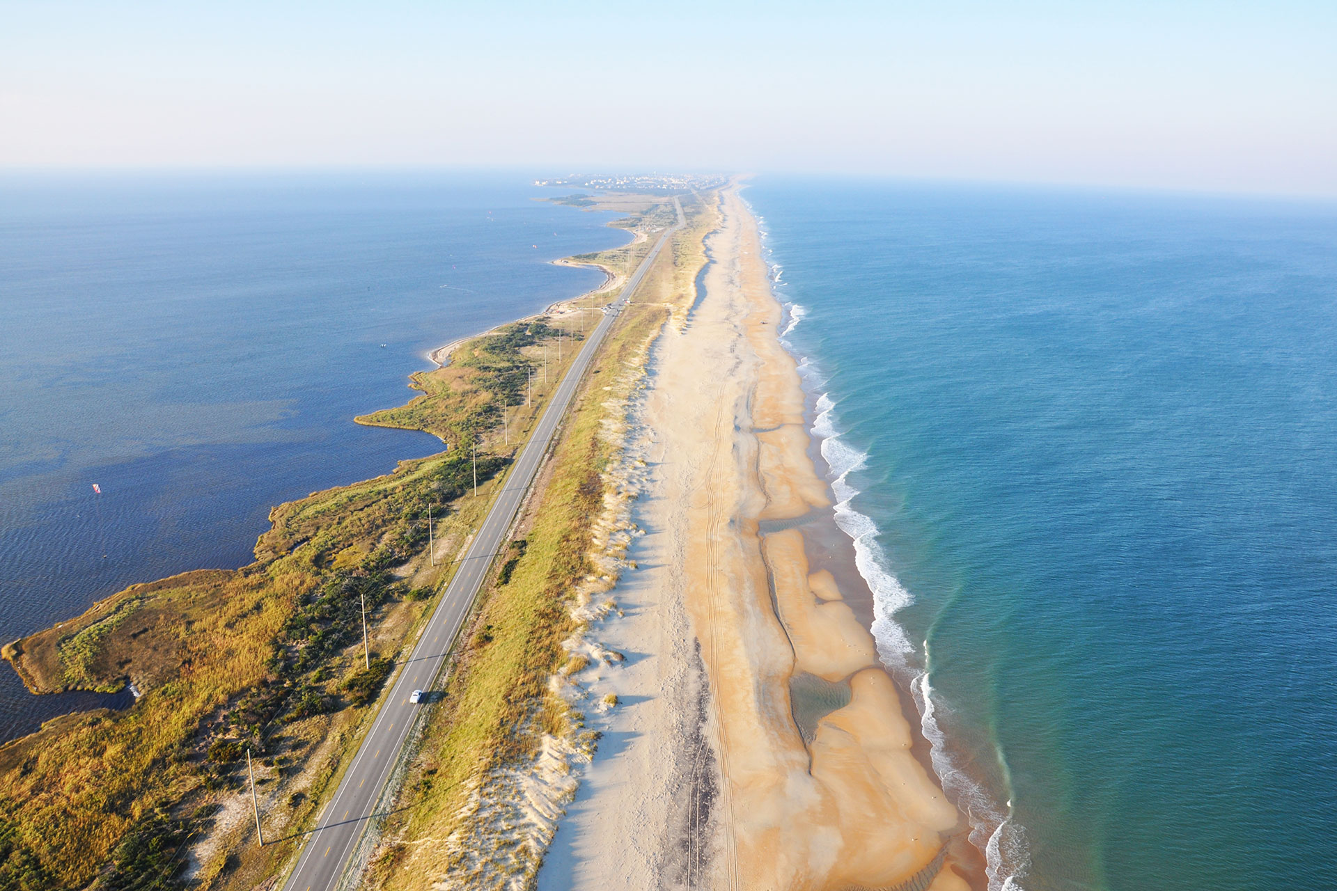 Aerial View of the Outer Banks