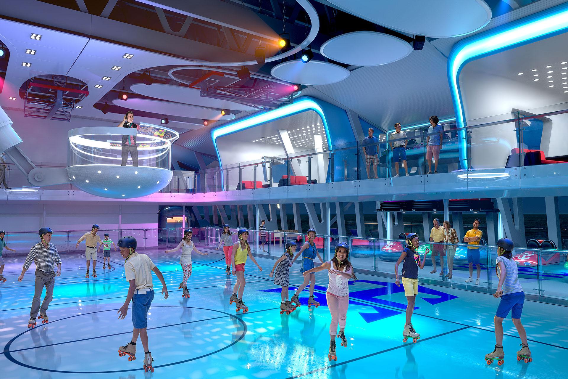 Royal Caribbean's Seaplex on Quantum of the Seas; Courtesy of Royal Caribbean International