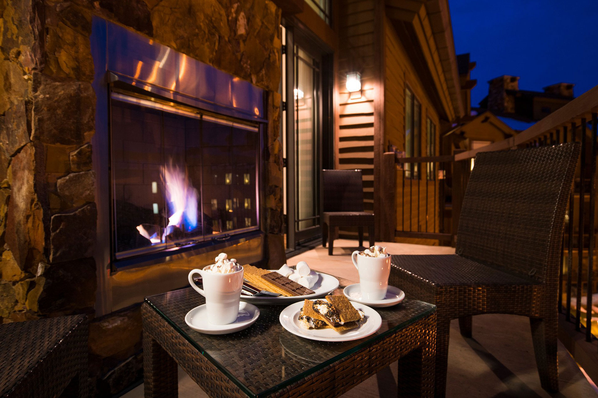 S'mores and Hot Cocoa at the Waldorf Astoria Park City; Courtesy of the Waldorf Astoria Park City