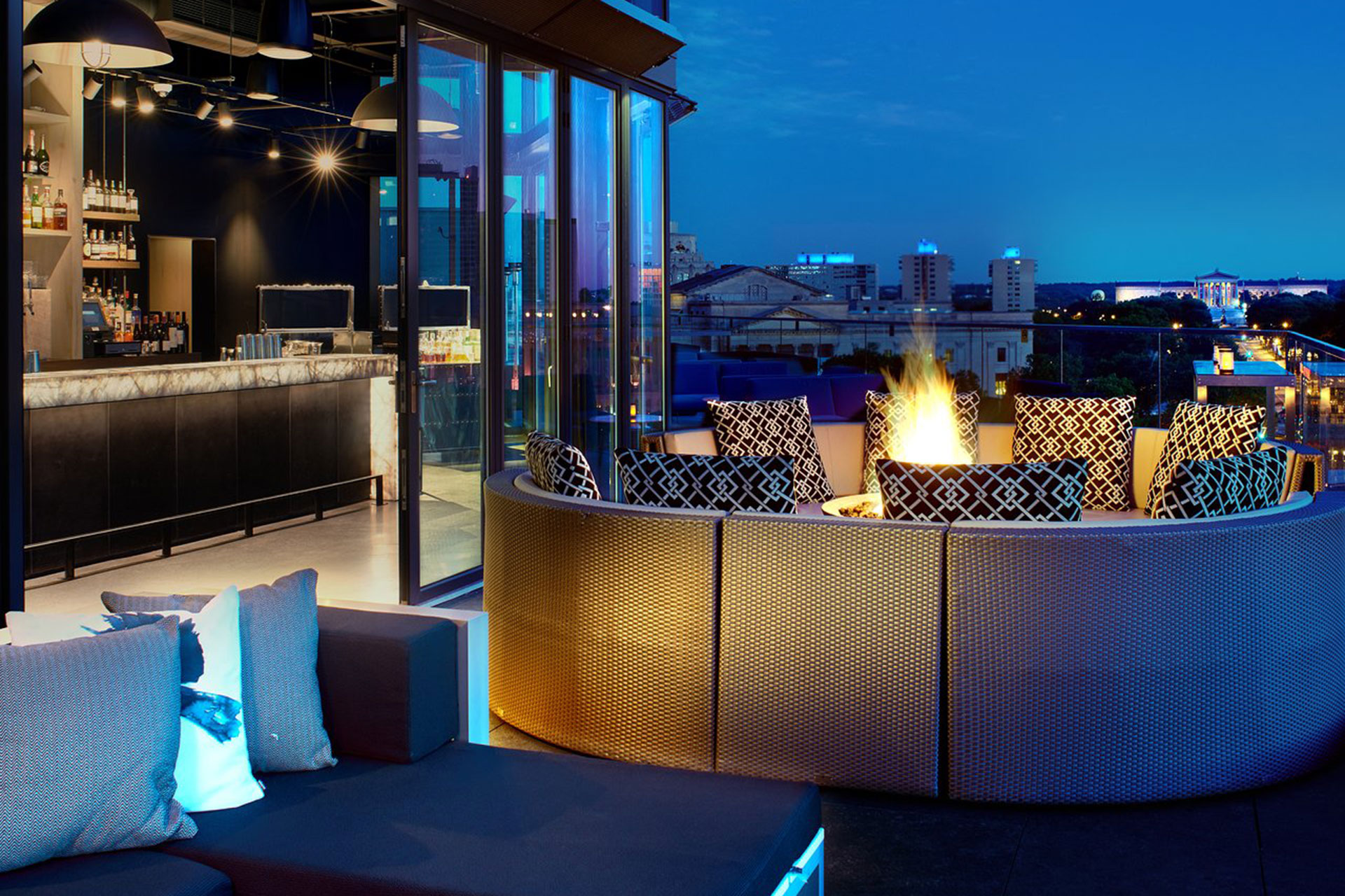 Rooftop Fire Pit at The Logan; Courtesy of The Logan
