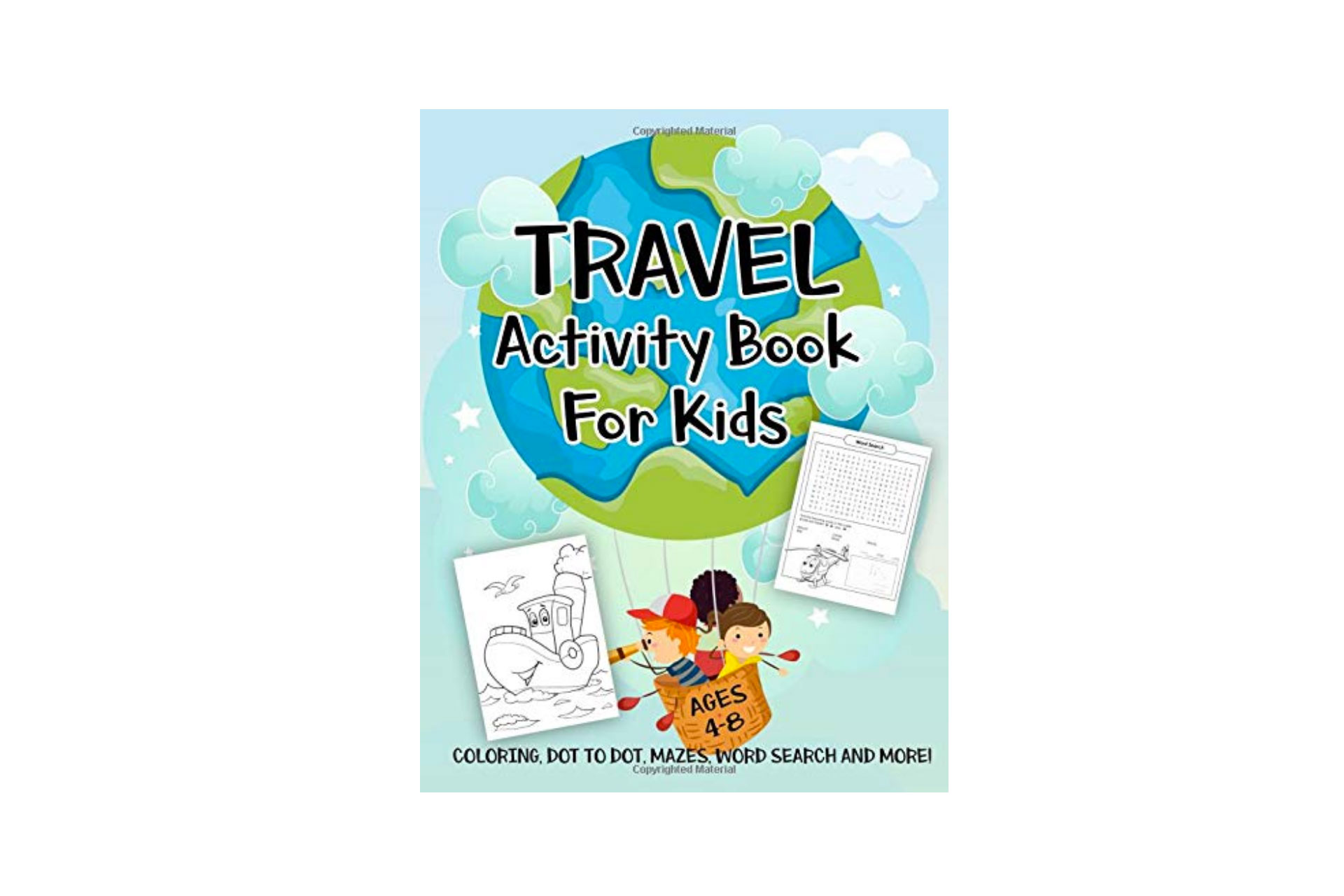 Travel Activity Book for Kids; Courtesy of Amazon