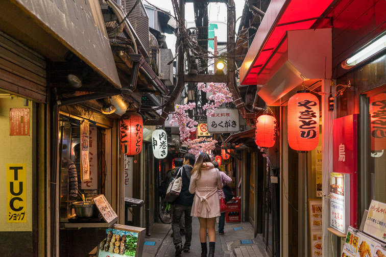 Restaurant and bar street called Omoide Yokocho in Shinjuku, Tokyo Japan.; Courtesy of Sean K/Shutterstock