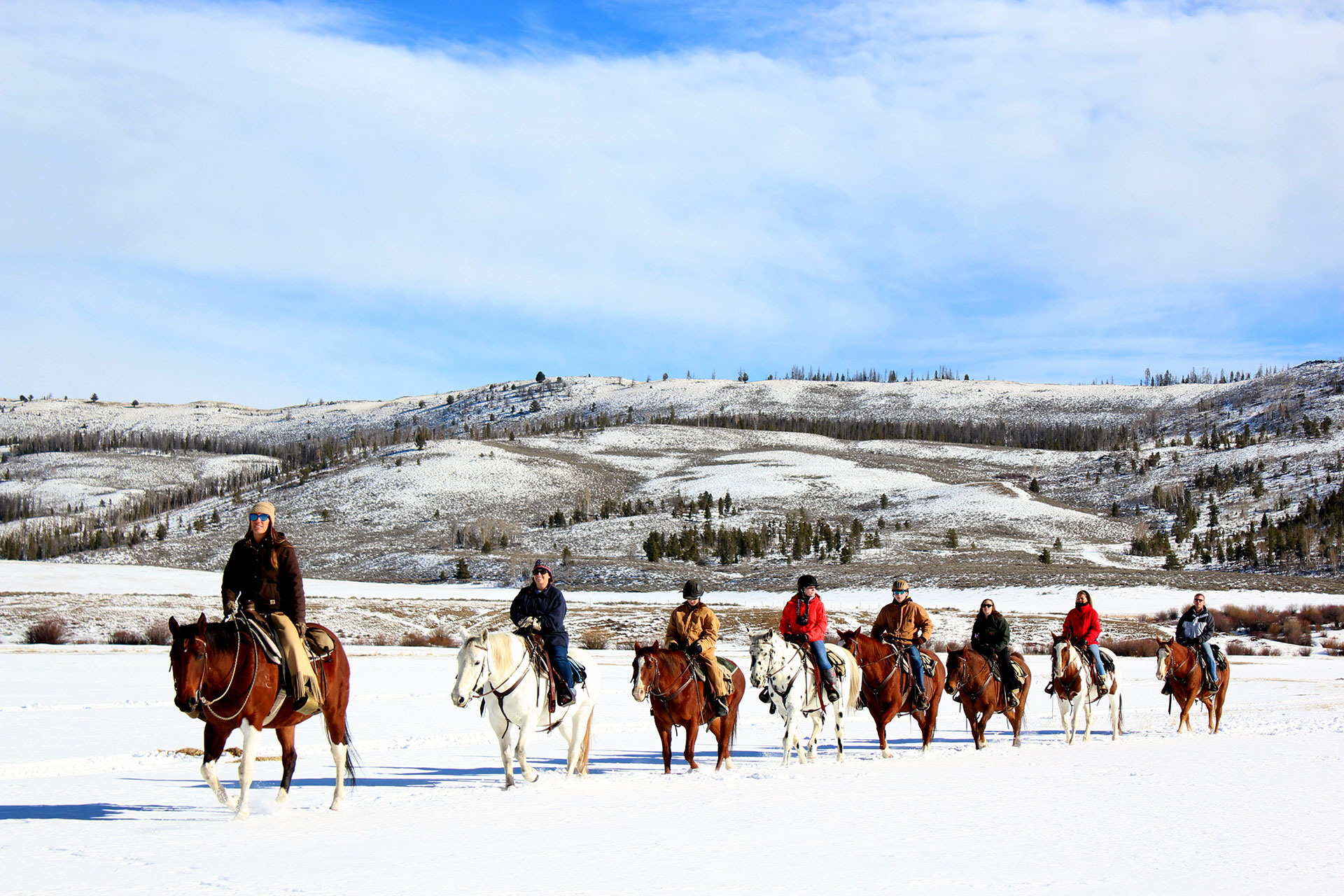 Winter Horseback Riding at C U Lazy Ranch; Courtesy of C U Lazy Ranch
