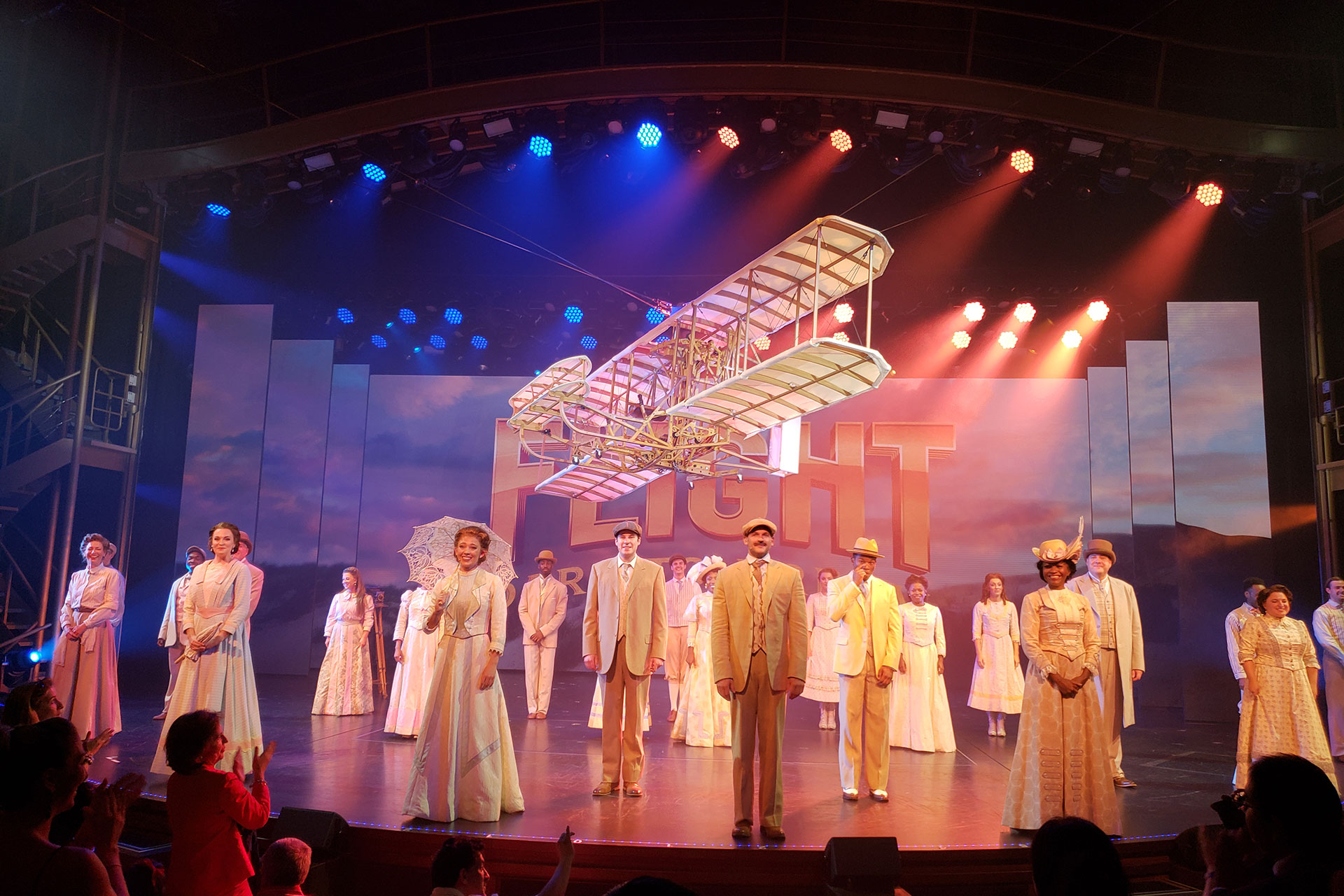 """Flight: Dare to Dream"" Show on Symphony of the Seas; Courtesy of Jeff Bogle"