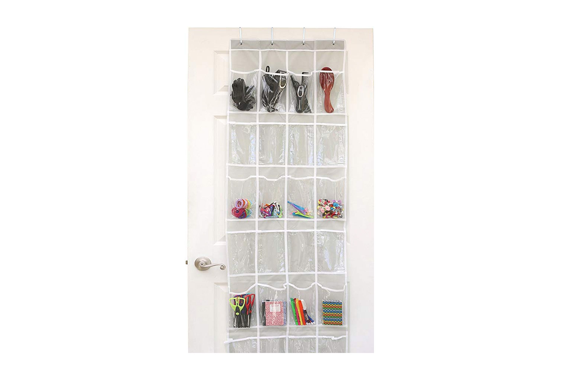 Hanging Shoe Organizer with Clear Pockets; Courtesy of Amazon